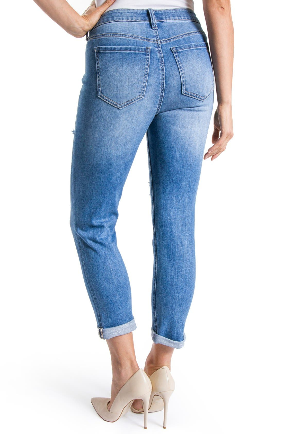 Alternate Image 3  - Liverpool Jeans Company 'Corey' Distressed Crop Boyfriend Jeans (Melbourne)