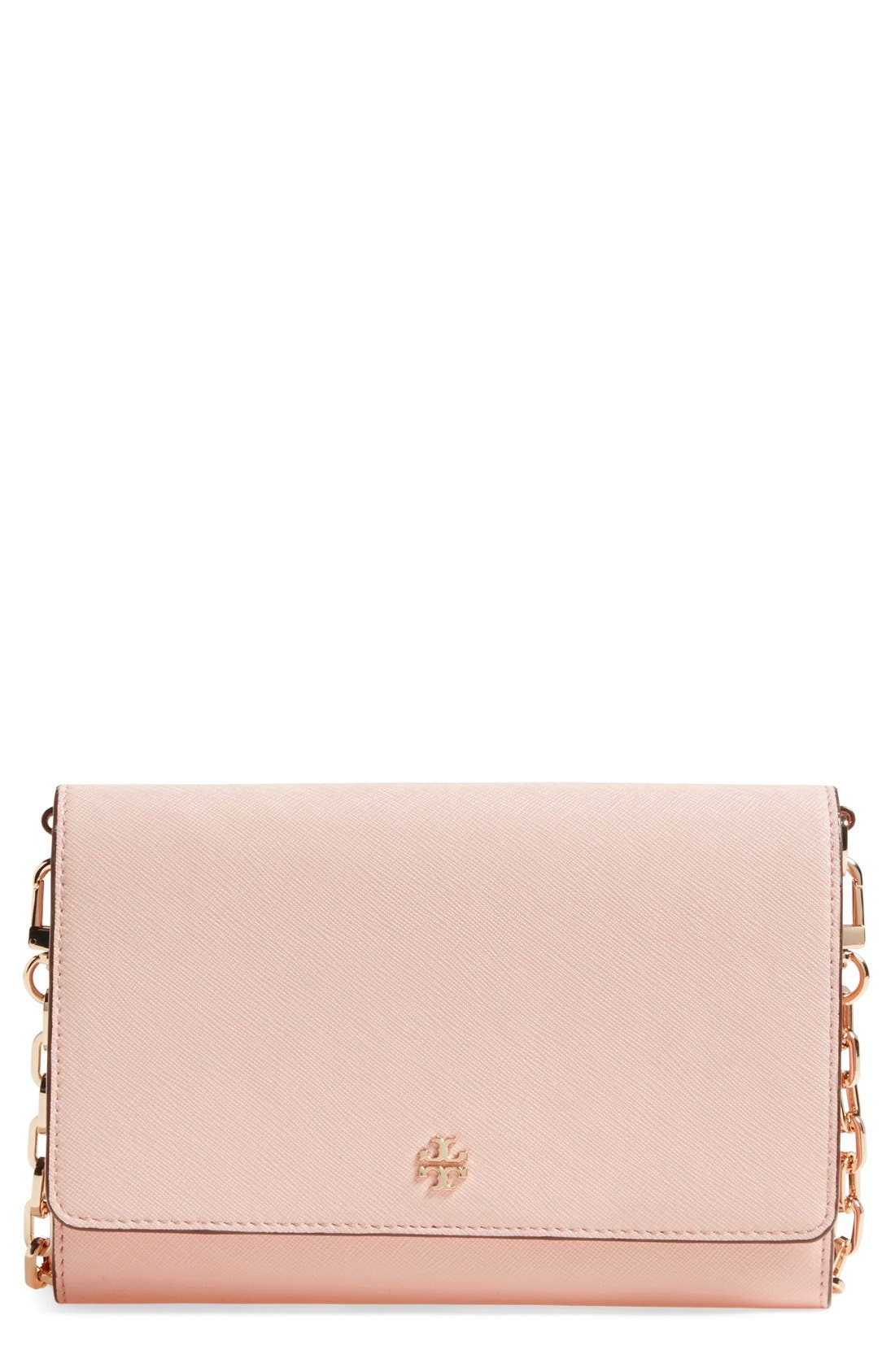 Tory Burch 'Robinson' Leather Wallet on a Chain