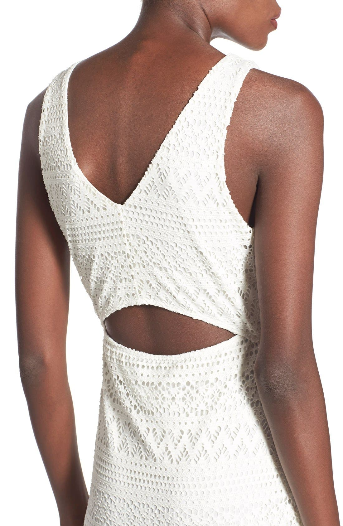 Alternate Image 4  - Lush Lace Open Back Sheath Dress