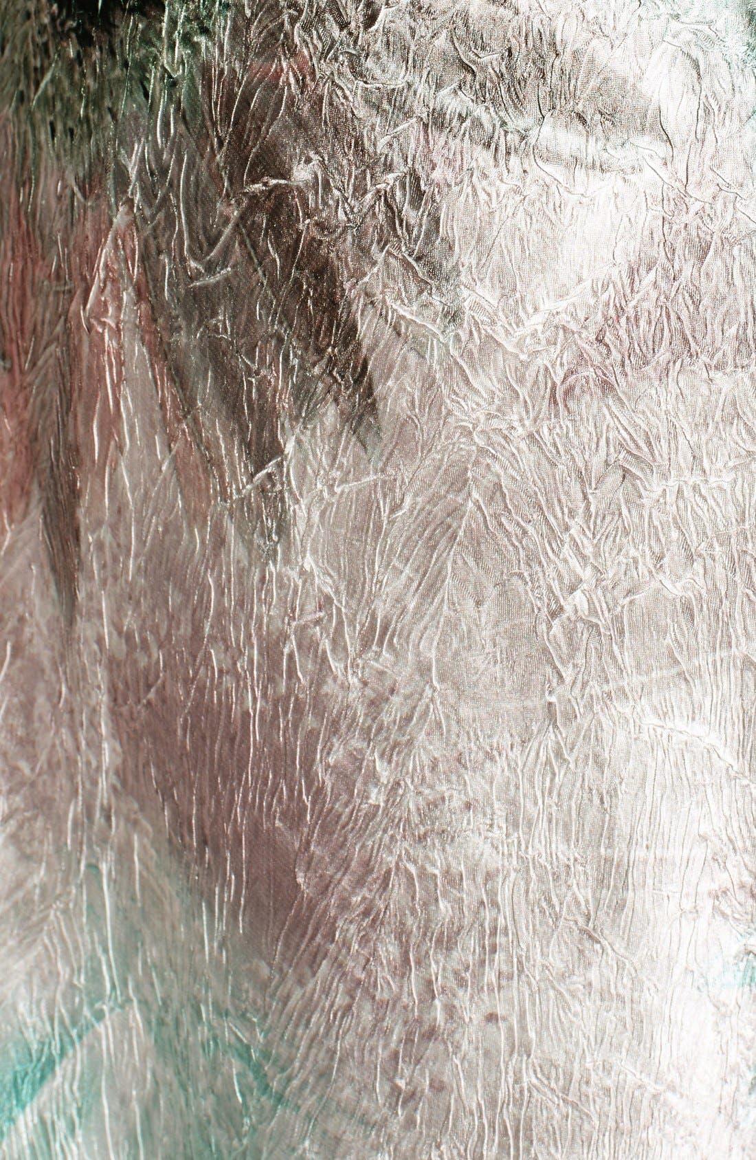 Alternate Image 5  - Komarov Corset Back Charmeuse Gown with Shawl (Regular & Petite)
