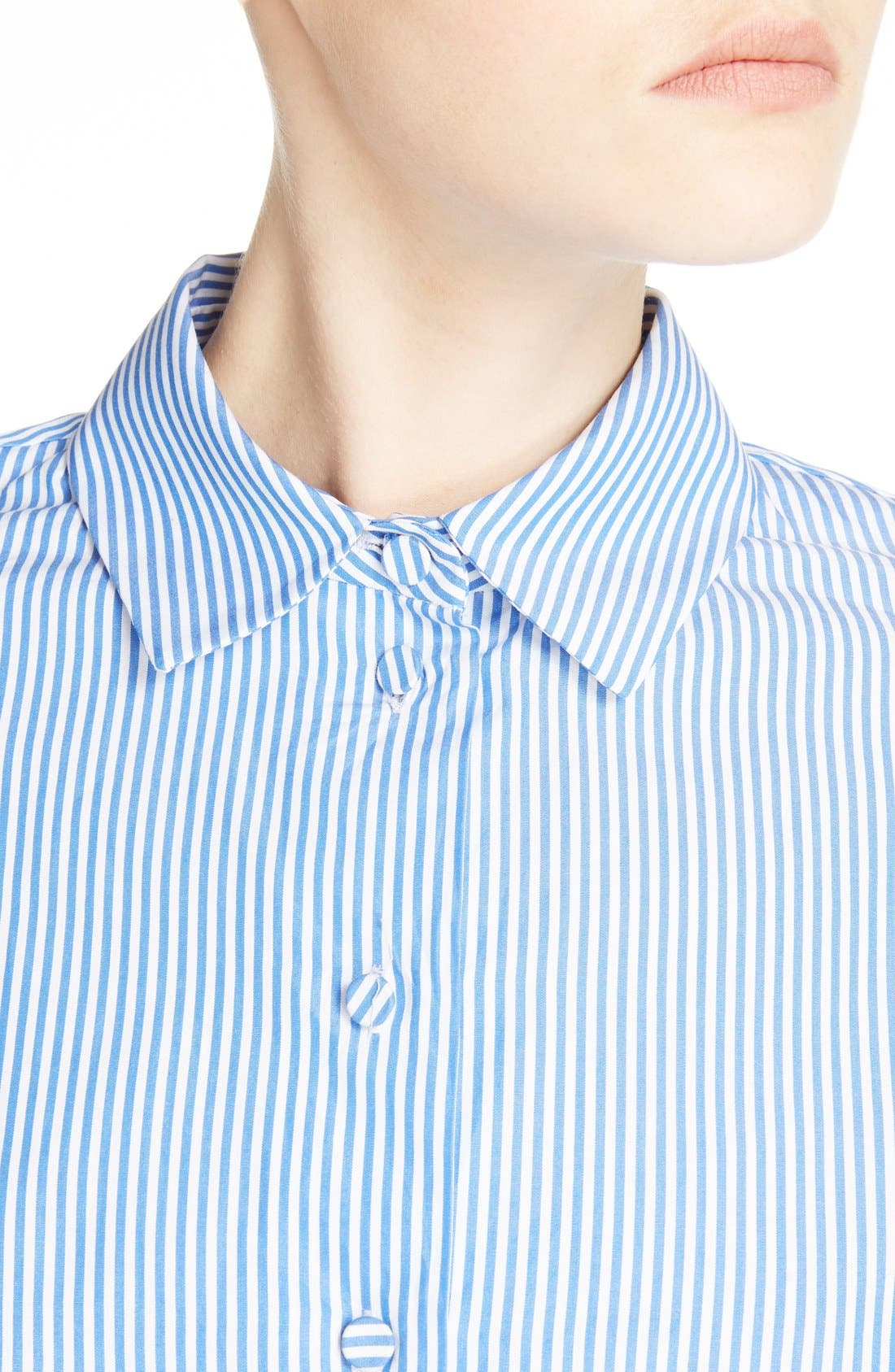 Alternate Image 4  - Carven Stripe Poplin Blouse