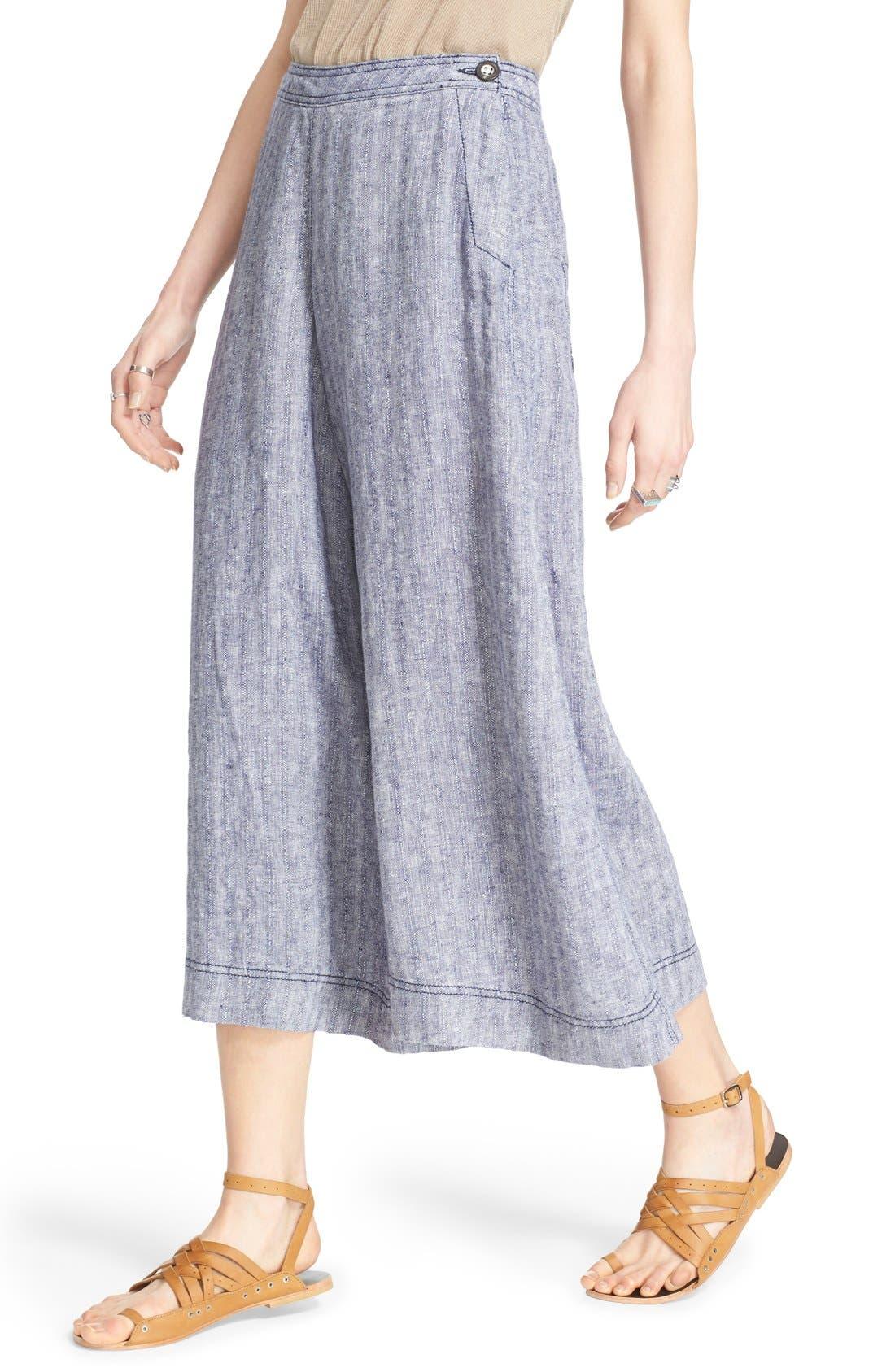 Alternate Image 4  - Free People 'Sani' Linen Culottes