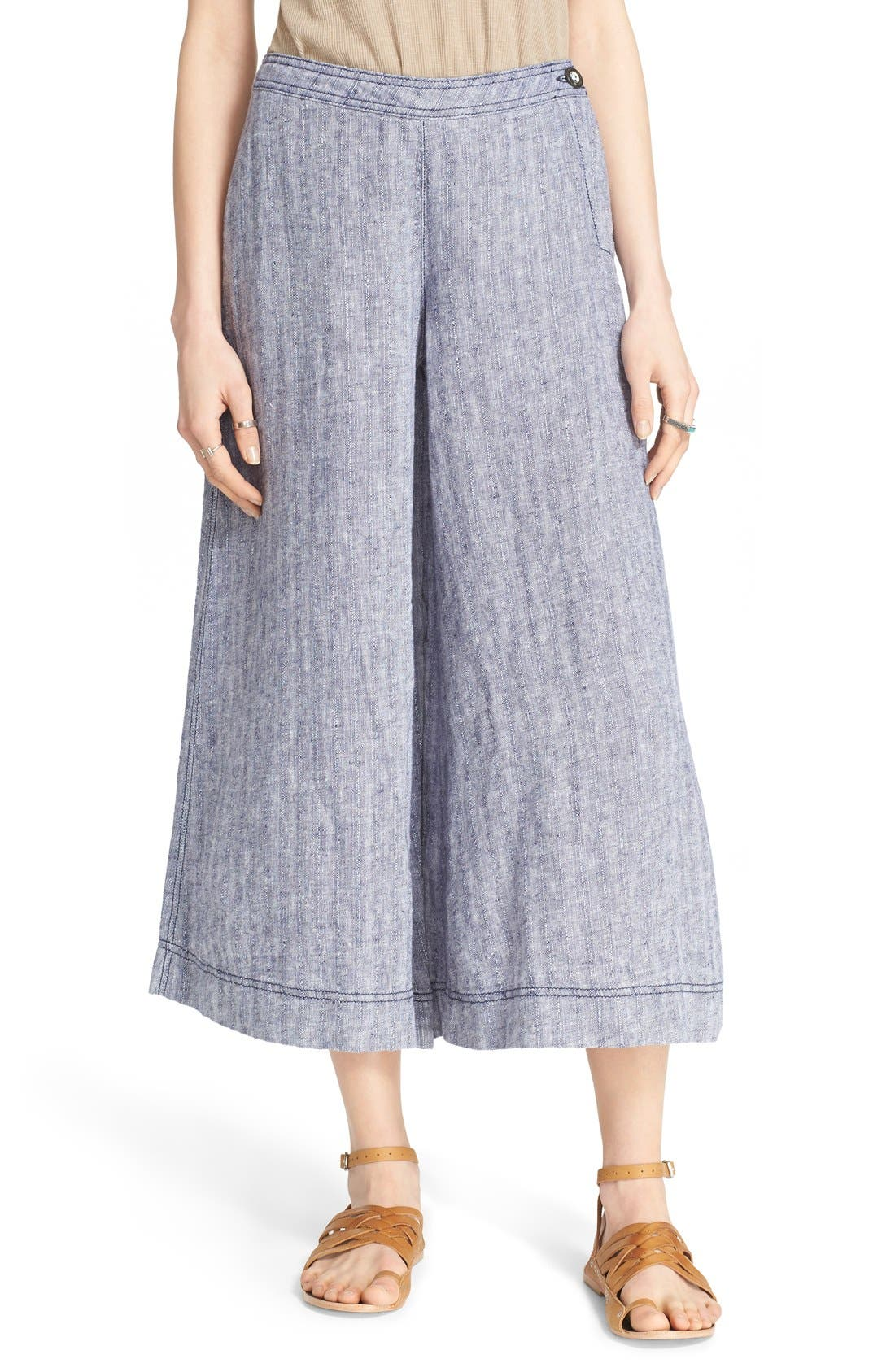 Main Image - Free People 'Sani' Linen Culottes