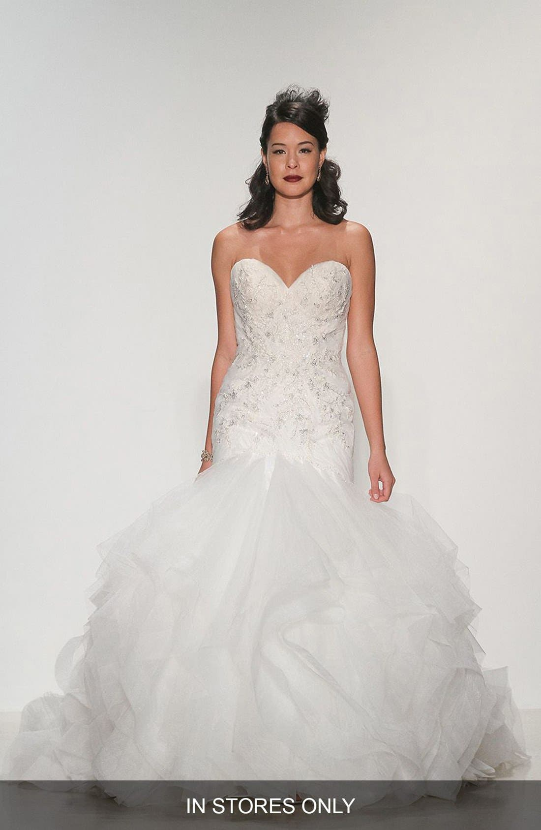 MATTHEW CHRISTOPHER 'Adrianna' Embellished Strapless Tulle &