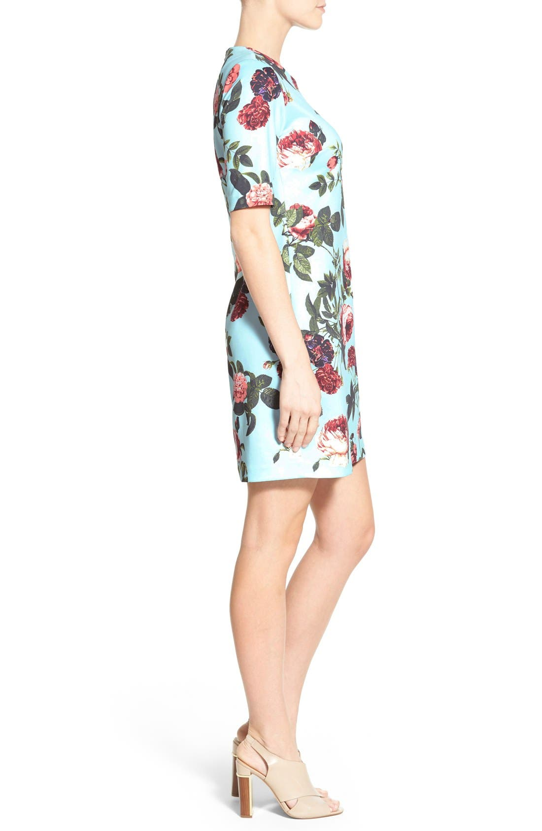 Alternate Image 3  - CeCe by Cynthia Steffe 'Bouquet Estate' Floral Print Scuba Knit Sheath Dress