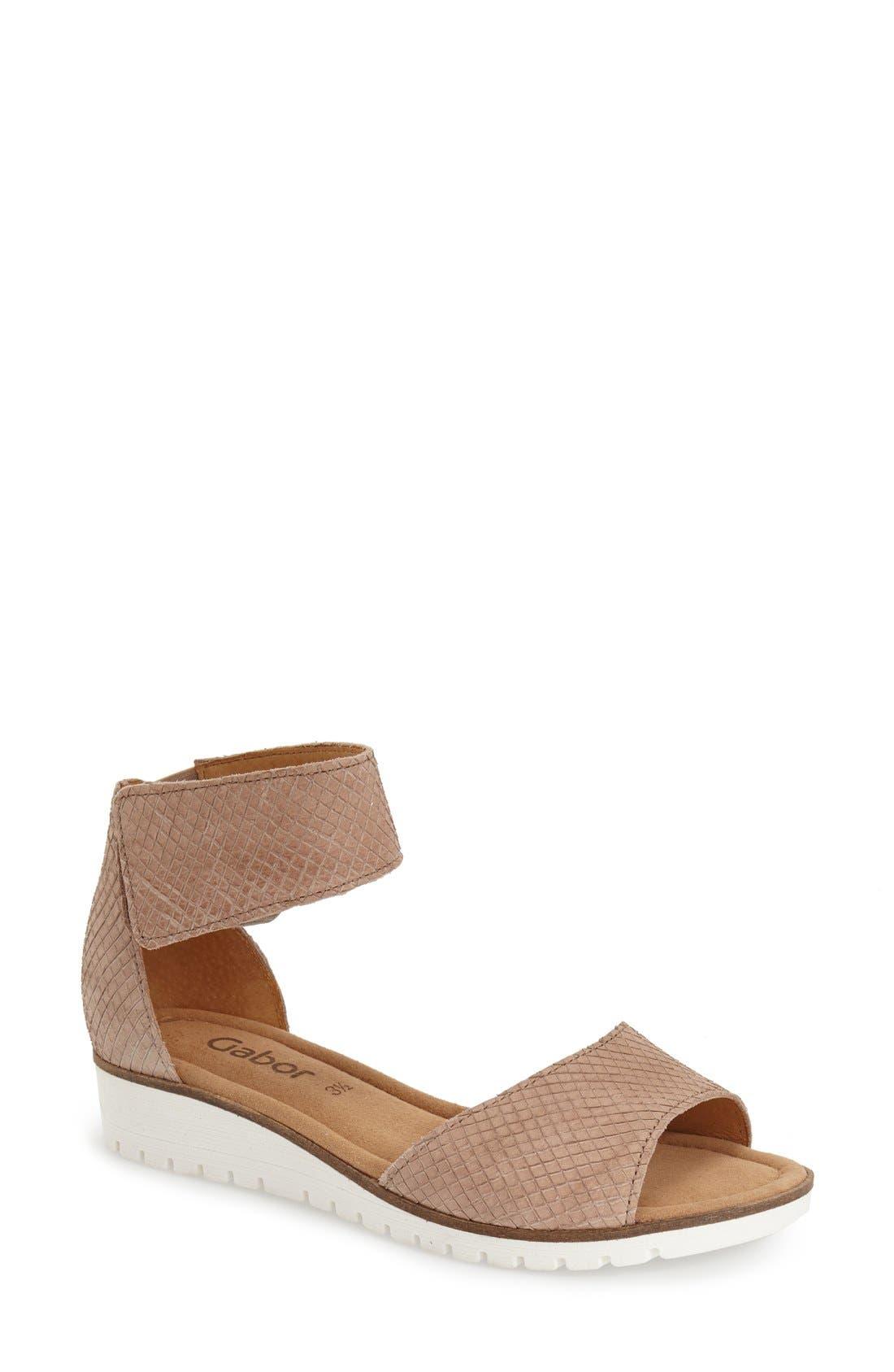 GABOR Two-Strap Sandal