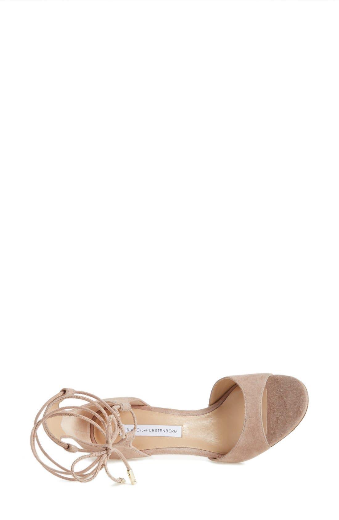 Alternate Image 4  - Diane von Furstenberg 'Rimini' Ankle Wrap Sandal (Women)