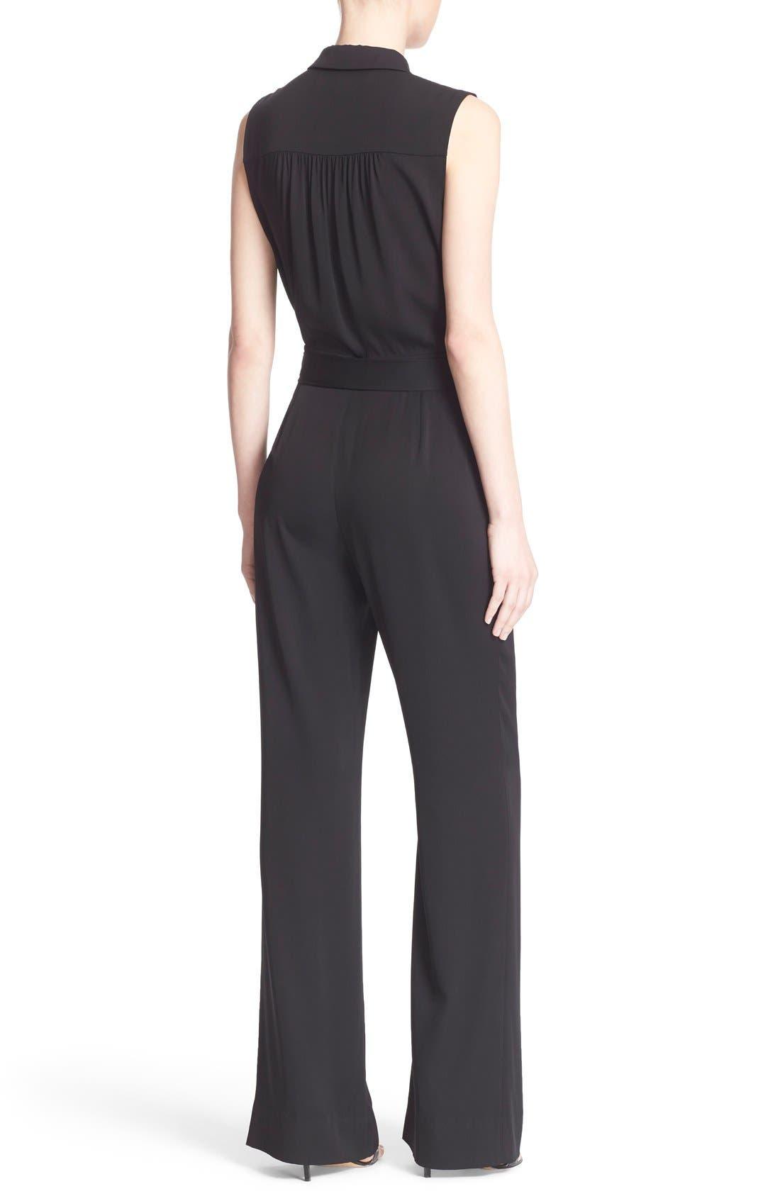 Alternate Image 2  - Diane von Furstenberg 'Traci' Stretch Silk Sleeveless Jumpsuit