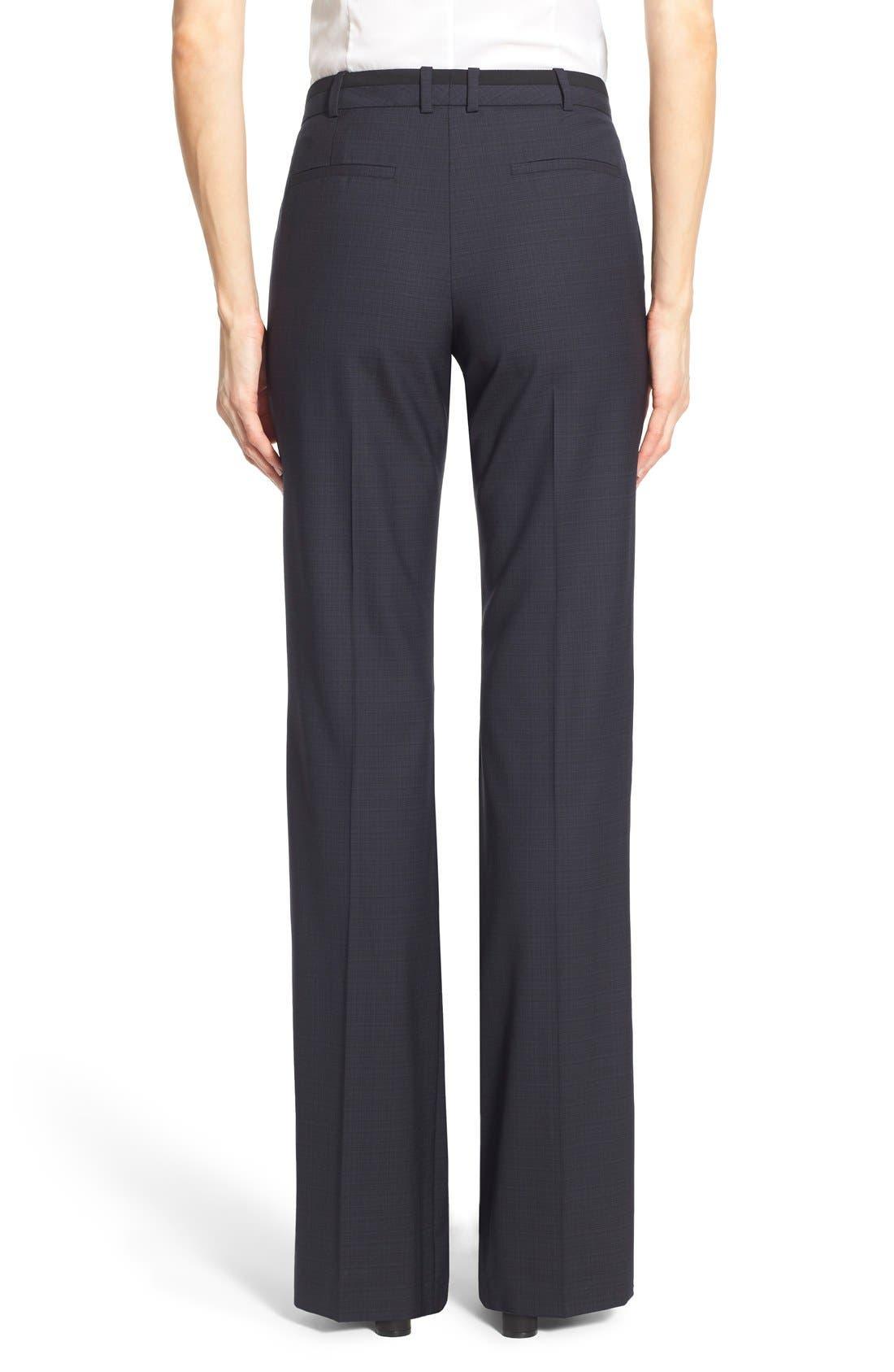 Alternate Image 2  - BOSS 'Tulea' Plaid Stretch Wool Trousers
