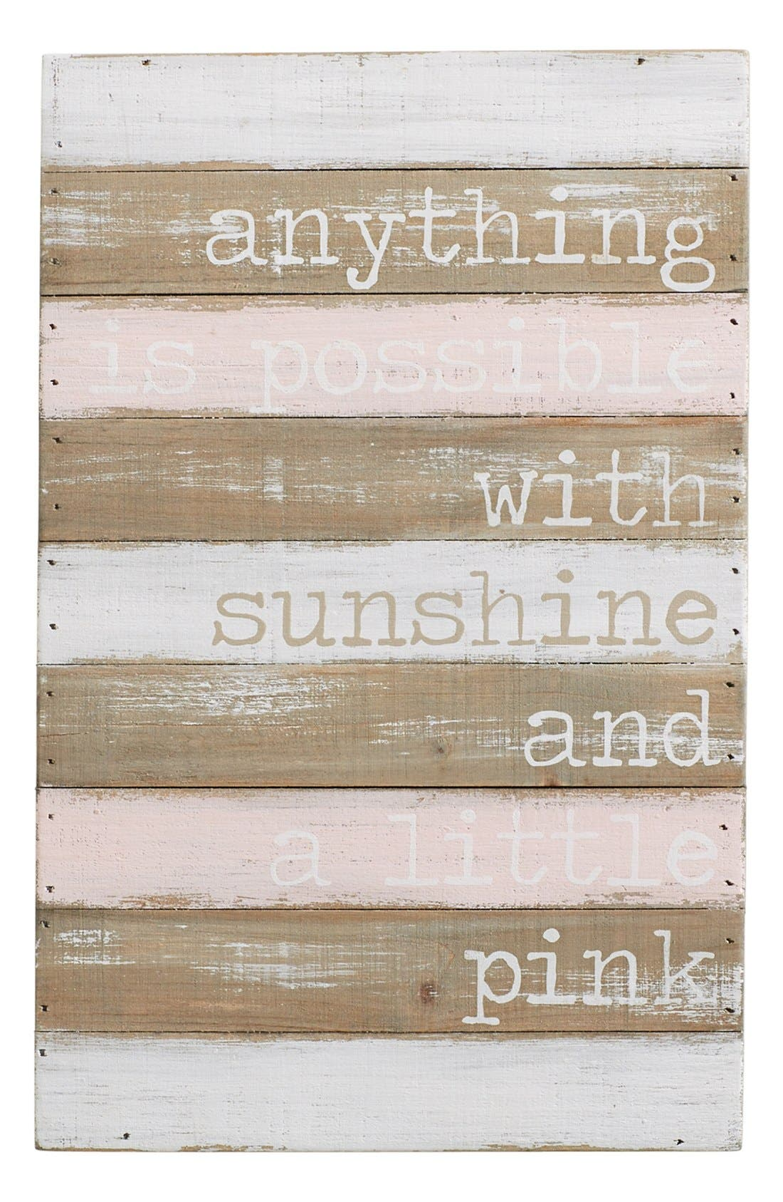 Mud Pie 'Anything is Possible' Wall Art