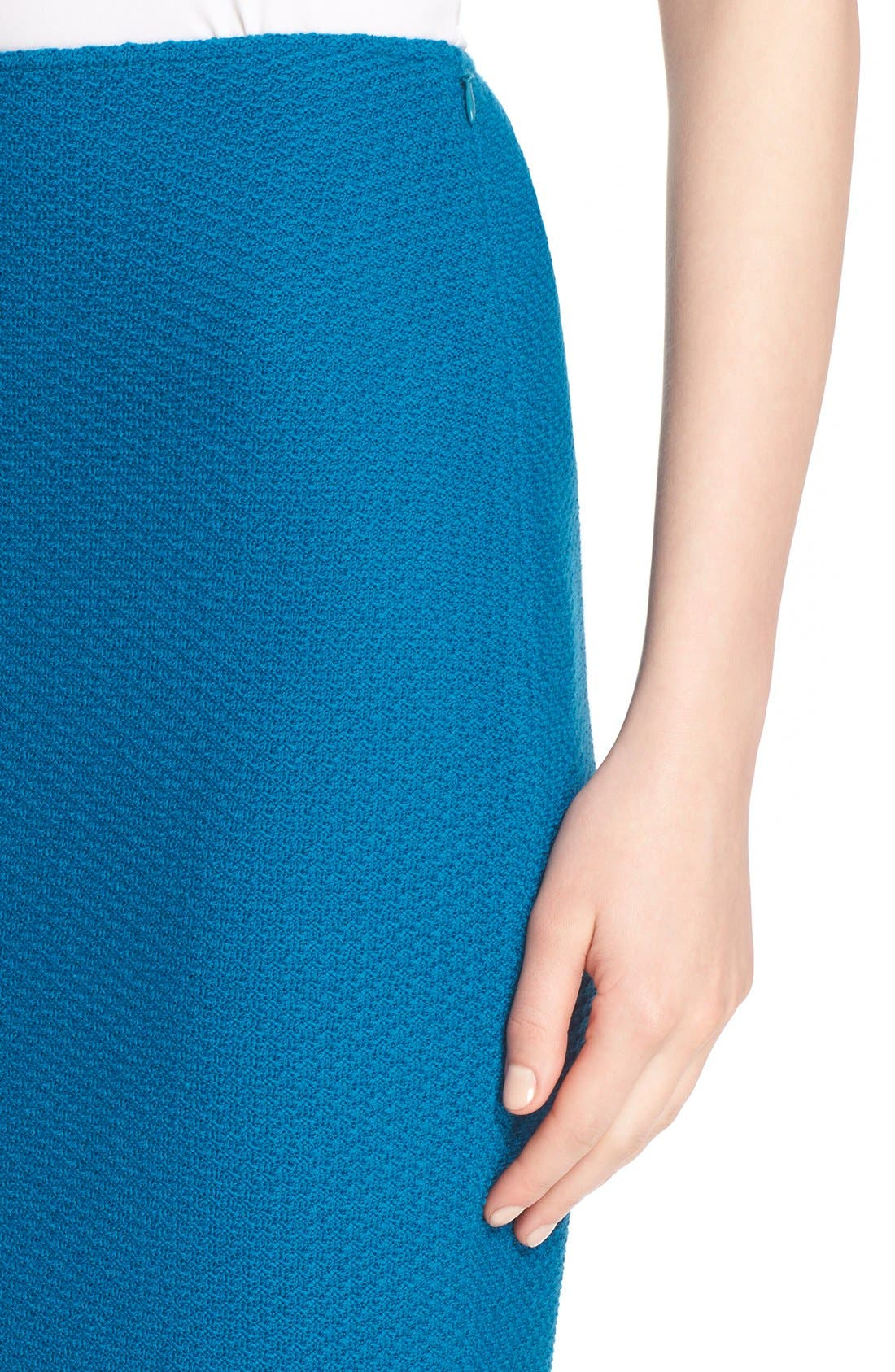 Alternate Image 6  - St. John Collection Textural Twill Pencil Skirt