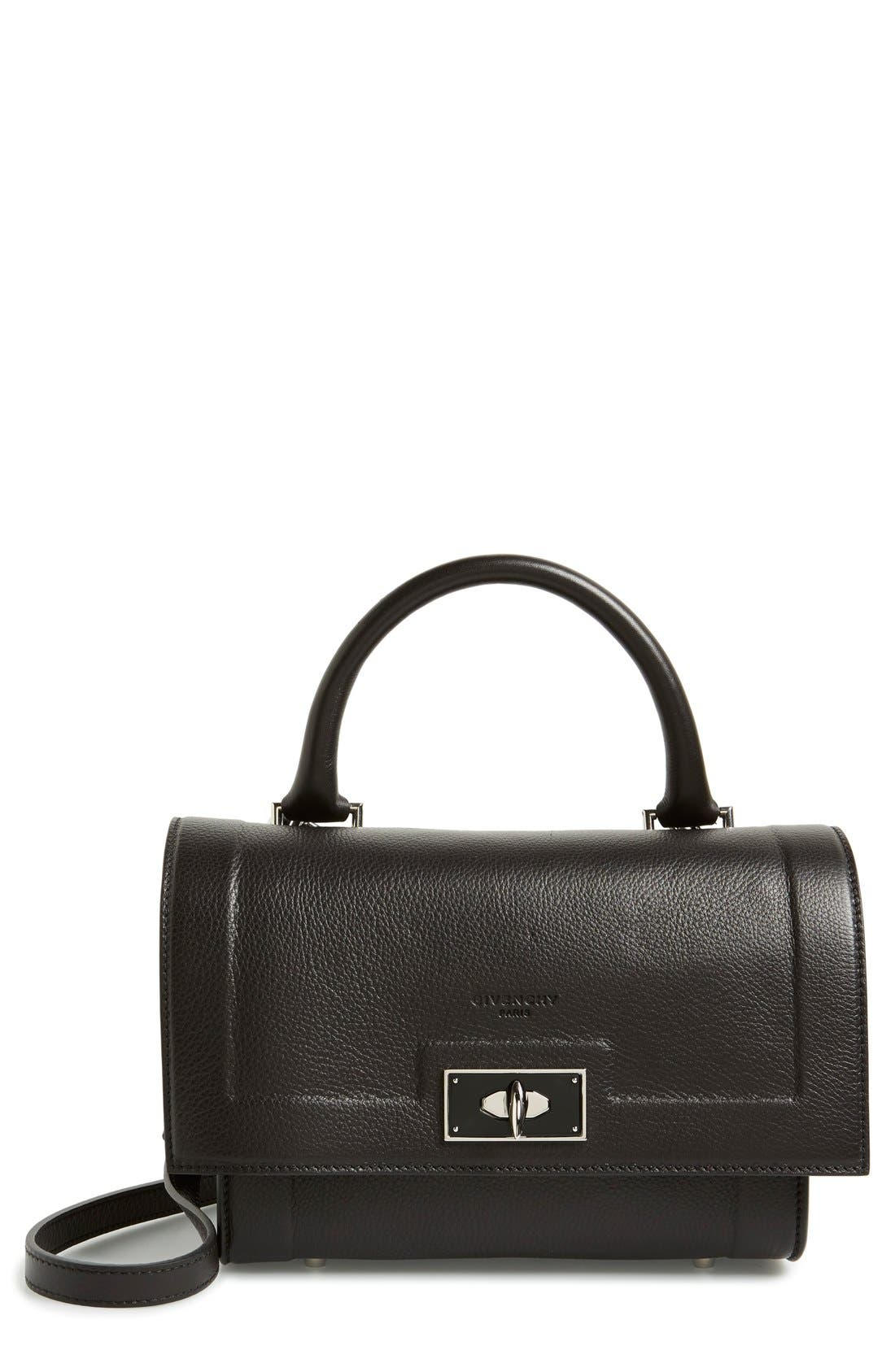 GIVENCHY 'Mini Shark Tooth' Leather Satchel