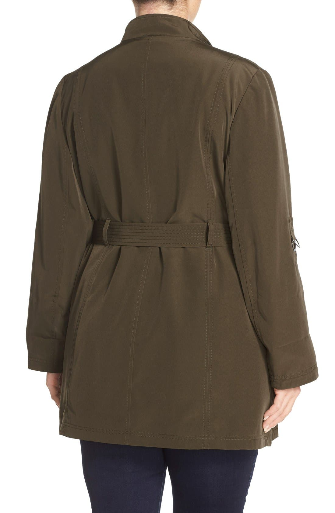 Alternate Image 2  - MICHAEL Michael Kors Asymmetrical Zip Jacket (Plus Size)