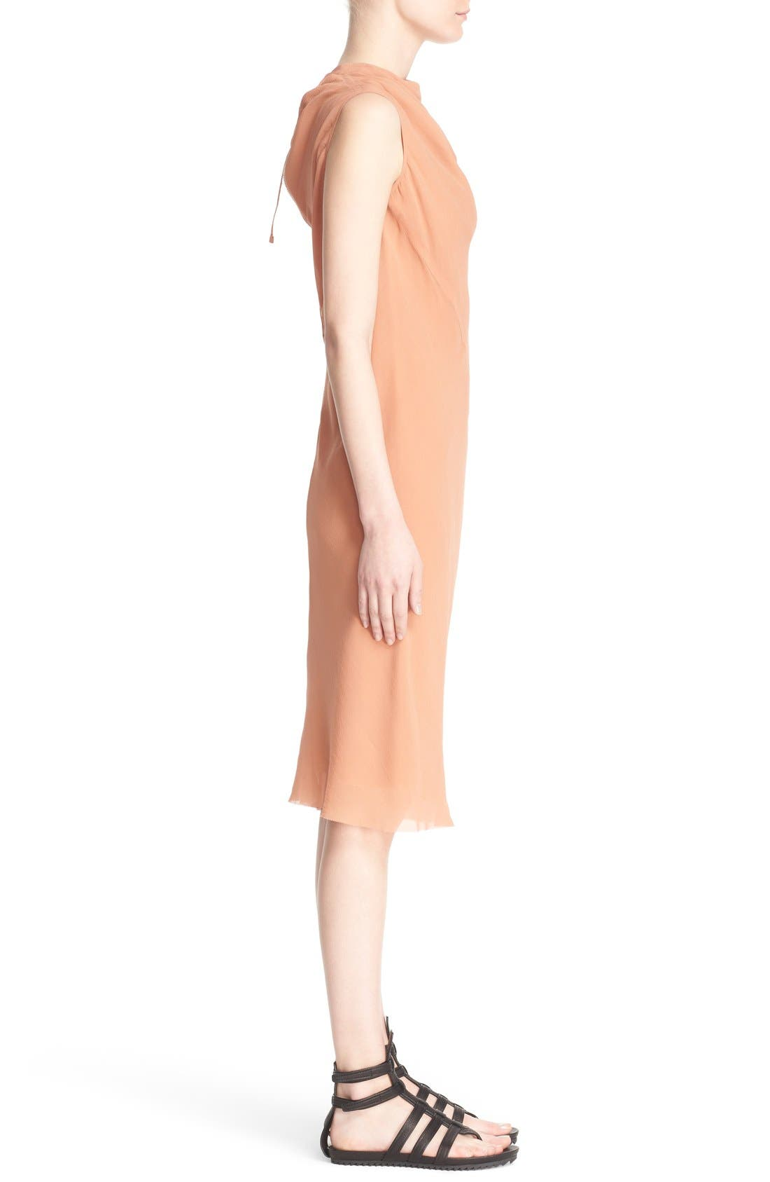Alternate Image 5  - Rick Owens 'Bonnie' Sleeveless Silk Georgette Sheath Dress