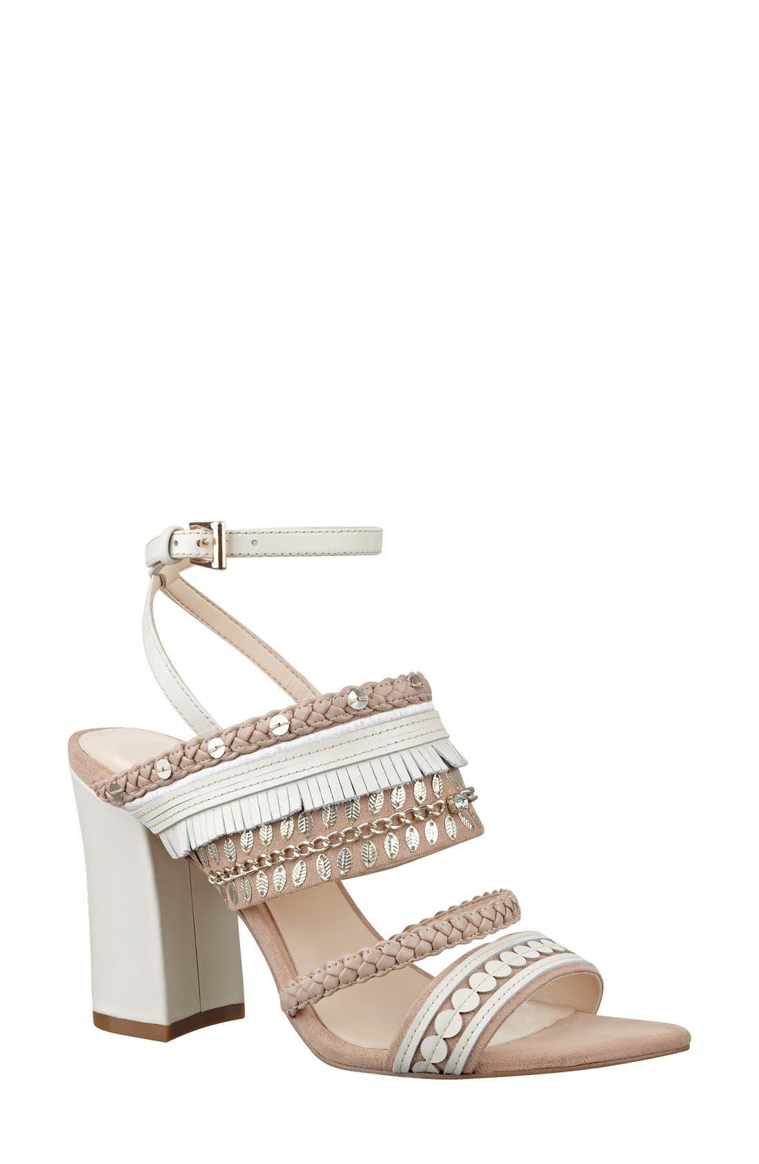 Alternate Image 1 Selected - Nine West 'Baebee' Block Heel Sandal (Women)