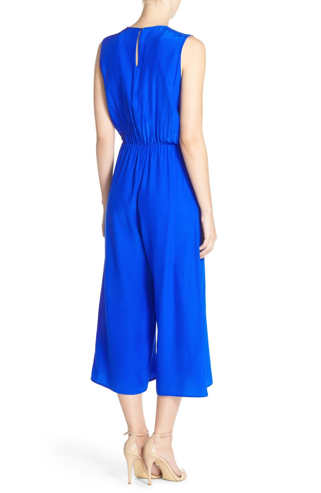 Alternate Image 2  - Amanda Uprichard 'Jessa' Sleeveless Crop Silk Jumpsuit