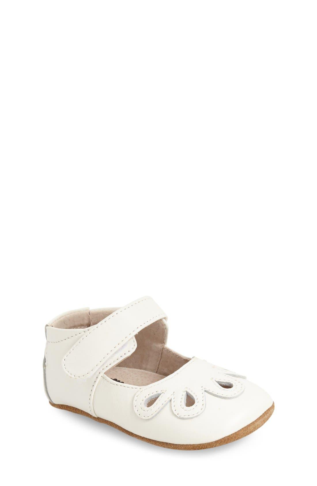 Livie & Luca 'Petal' Mary Jane Crib Shoe (Baby & Walker)