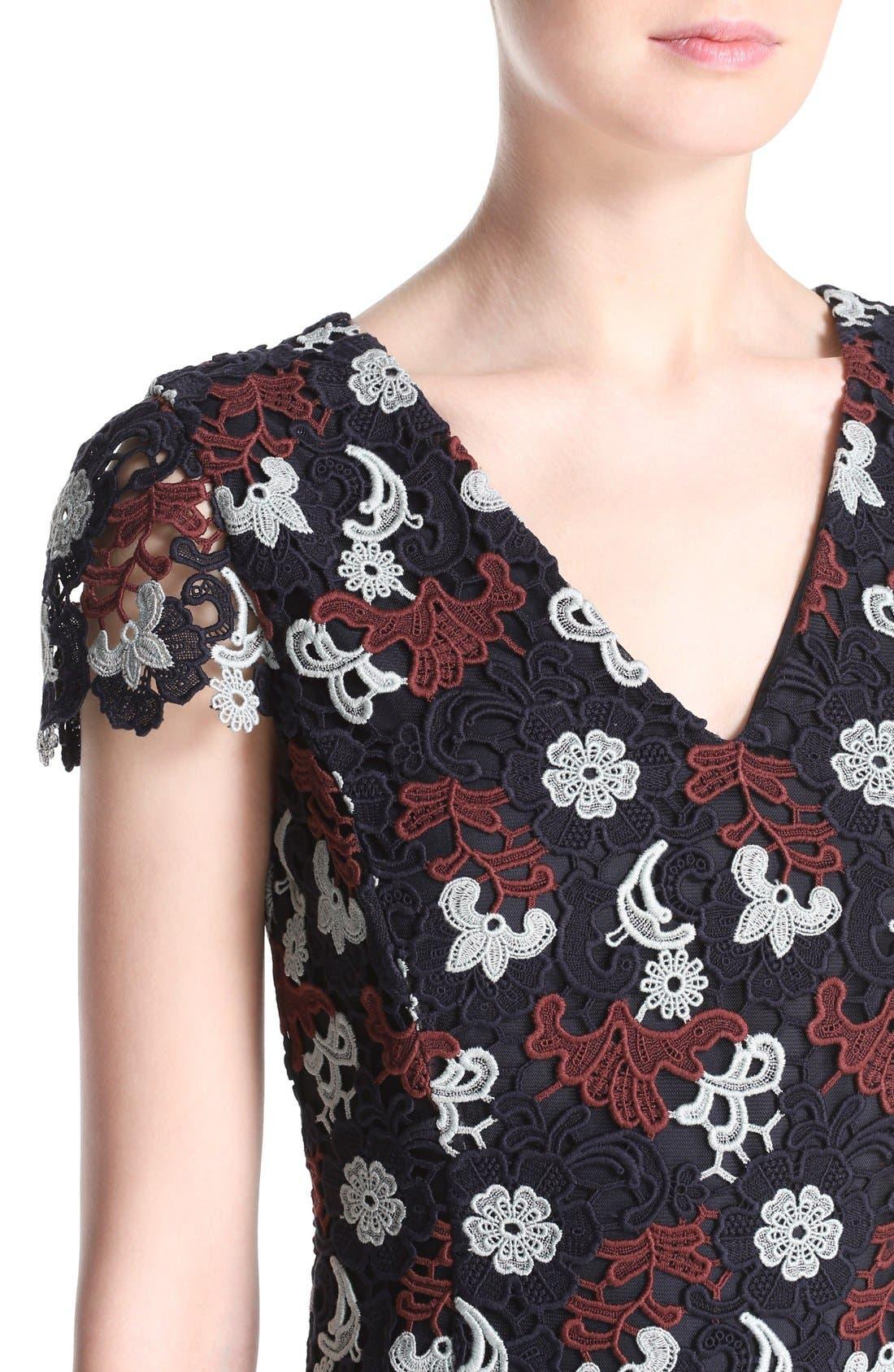 Alternate Image 4  - Tory Burch Cap Sleeve Guipure Lace Dress