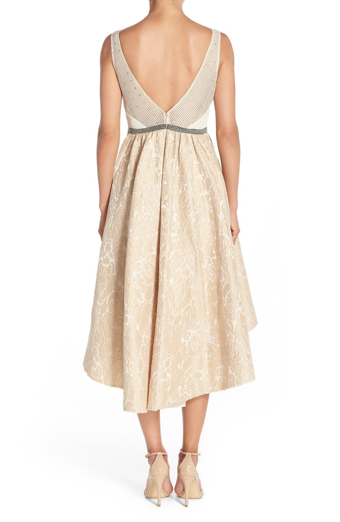 Alternate Image 2  - Tracy Reese Sequin Appliqué Woven Fit & Flare Dress
