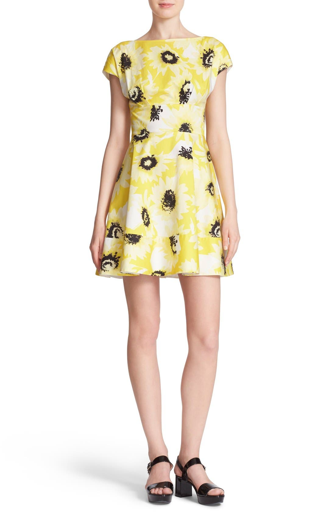 Alternate Image 2  - kate spade new york 'fiorella' floral print dress