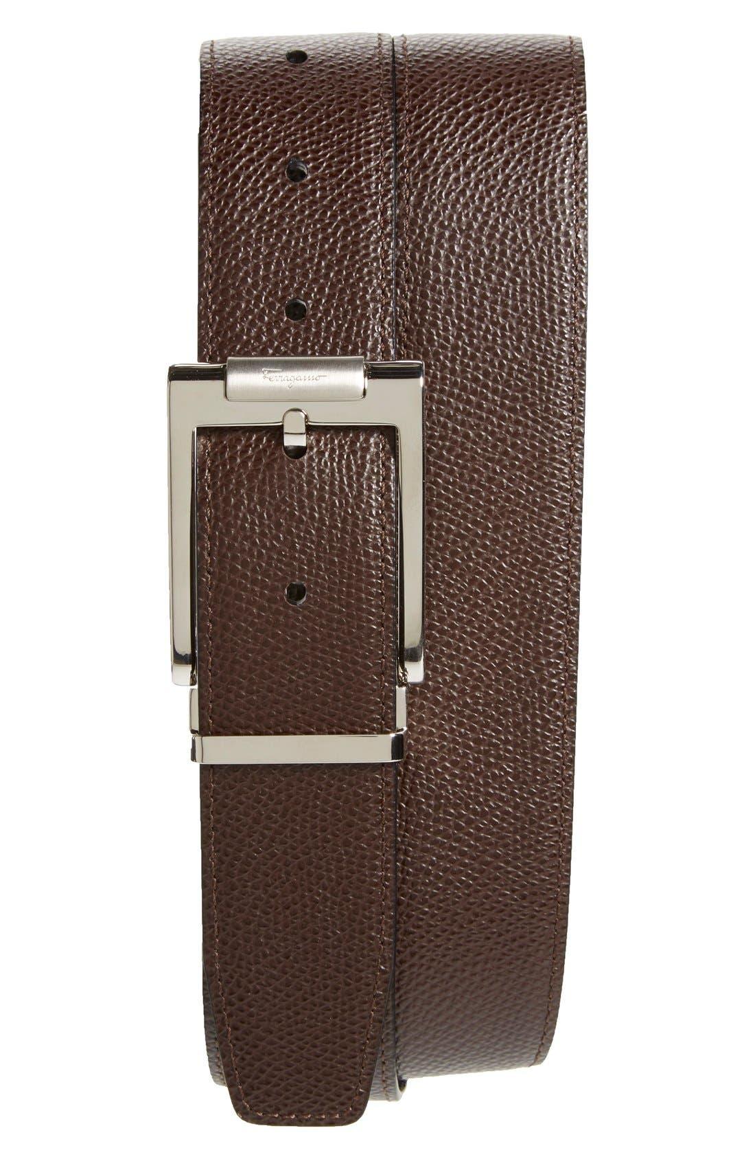 Alternate Image 2  - Salvatore Ferragamo Reversible Pebbled Leather Belt