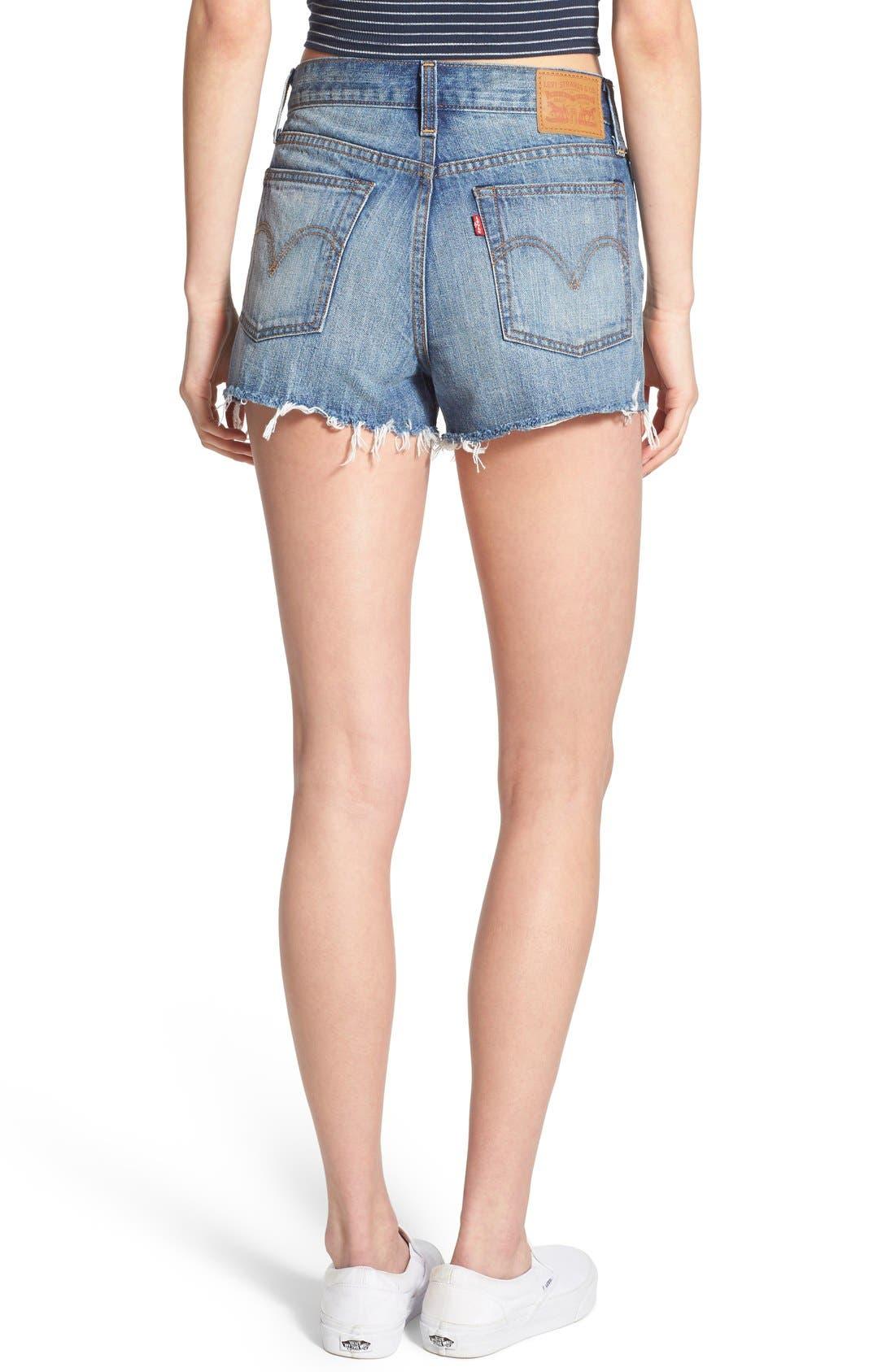 Alternate Image 2  - Levi's® High Rise Cutoff Shorts