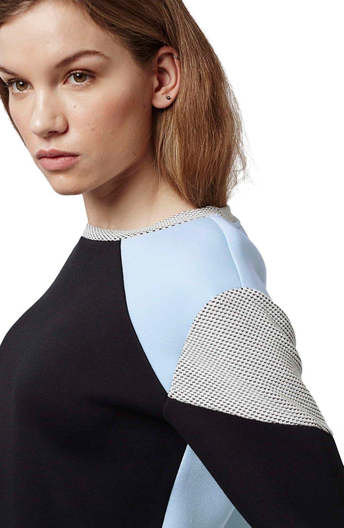 Alternate Image 5  - Topshop Colorblock Sweatshirt