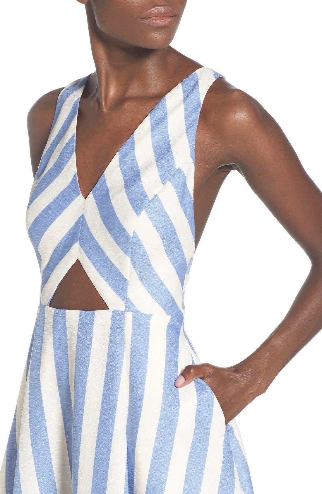 Alternate Image 4  - Lovers + Friends 'Honor' Stripe Fit & Flare Dress