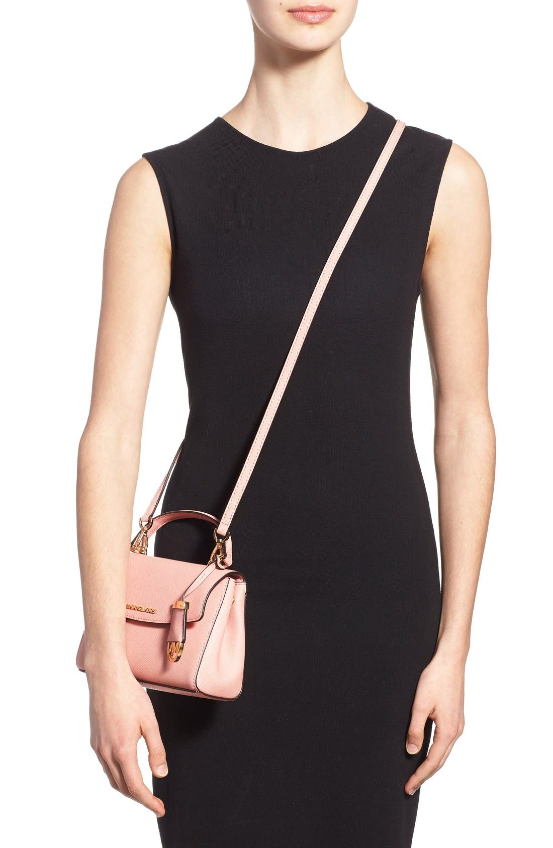 Alternate Image 2  - MICHAEL Michael Kors 'Extra Small Ava' Leather Crossbody Bag