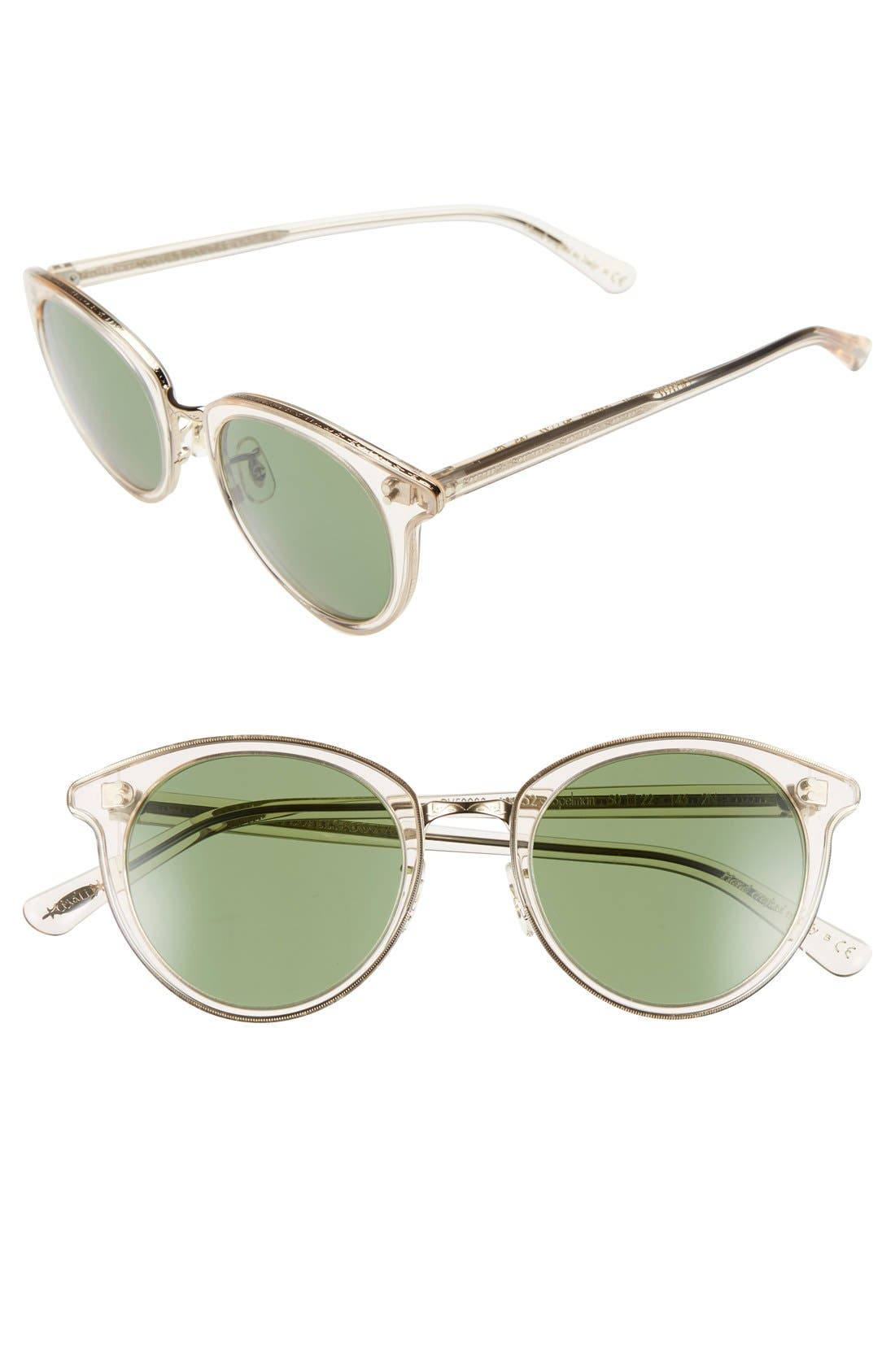 Alternate Image 1 Selected - Oliver Peoples 'Spelman' 50mm Retro Sunglasses