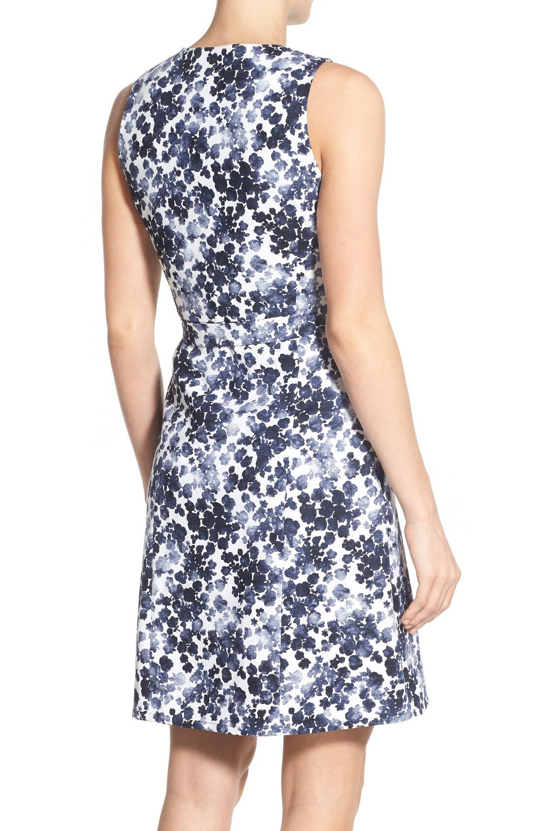 Alternate Image 3  - MICHAEL Michael Kors 'Gemma' Print Belted A-Line Dress