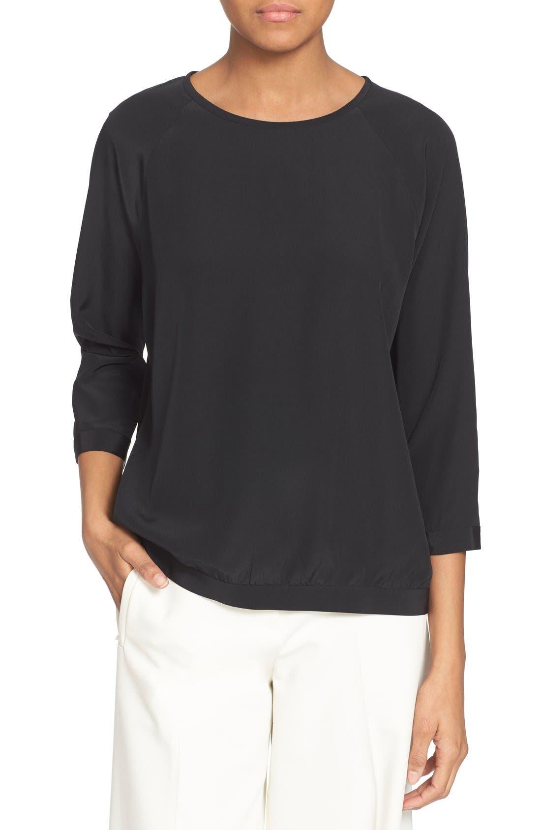 Tibi Banded Silk Sweatshirt