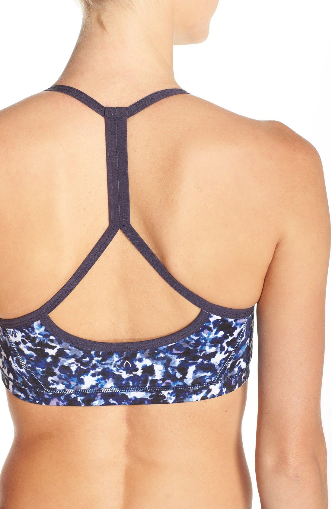 Alternate Image 4  - Beyond Yoga Print Racerback Sports Bra