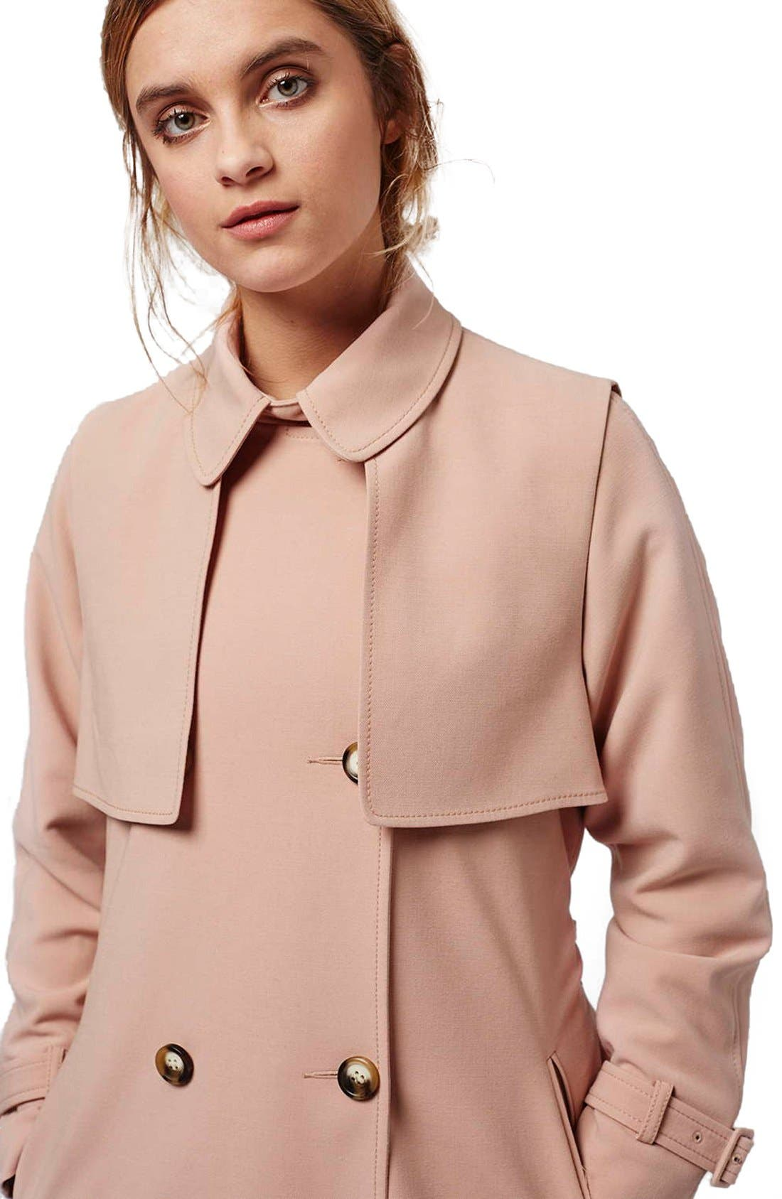 Alternate Image 5  - Topshop Belted Double Breasted Trench Coat