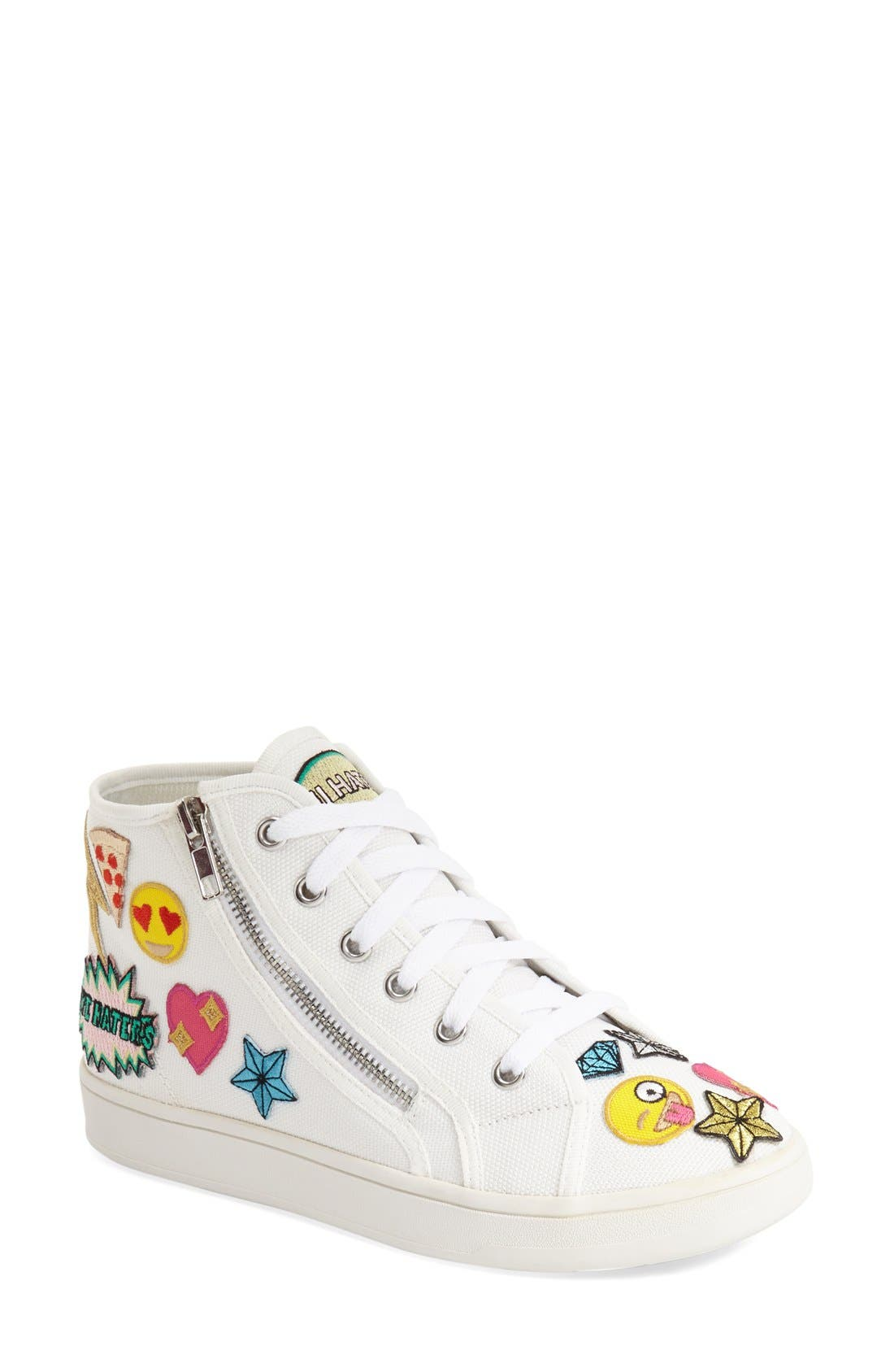 Alternate Image 1 Selected - Steve Madden 'Cobrah' High Top Sneaker (Women)