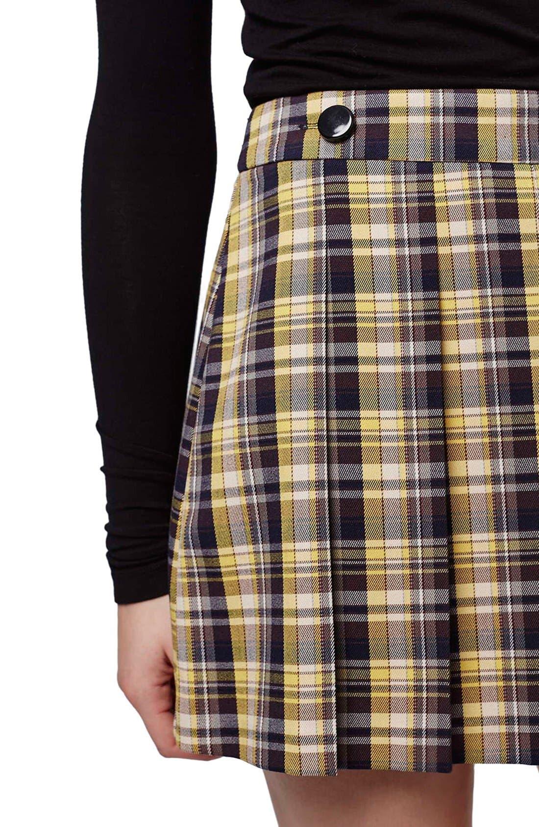 Alternate Image 5  - Topshop Plaid Kilt Miniskirt