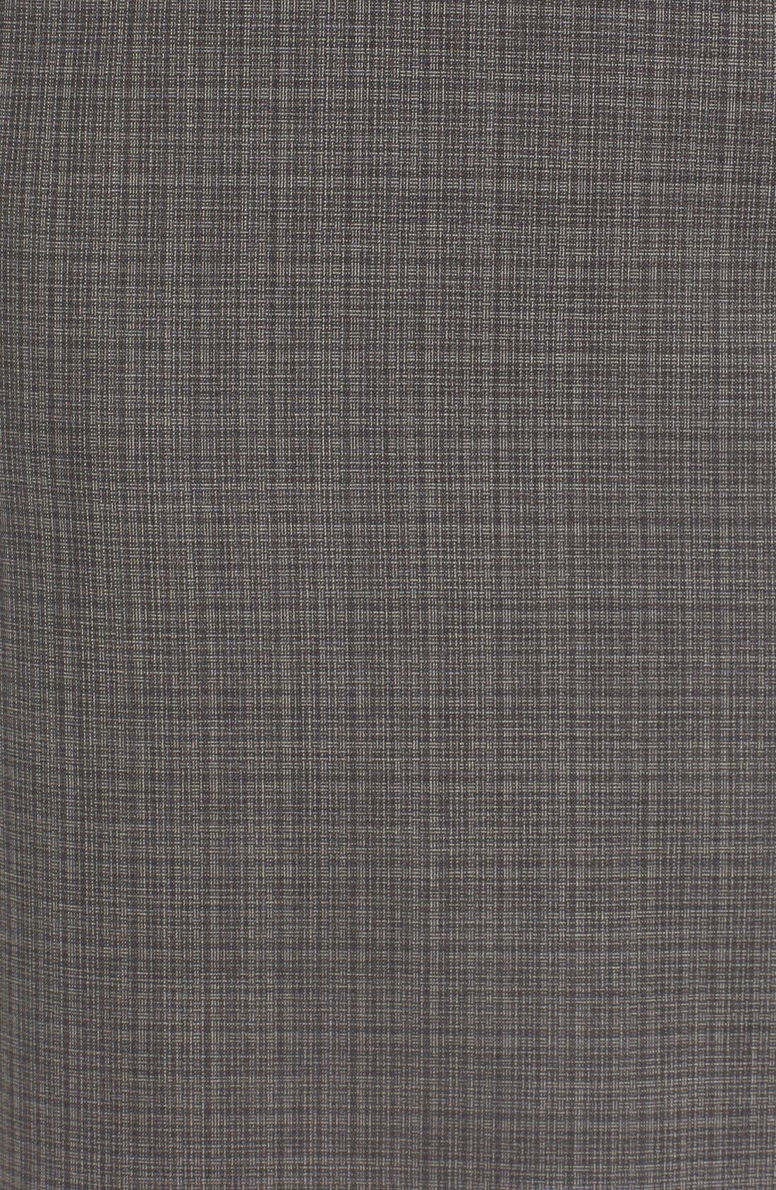 Alternate Image 6  - BOSS 'Vanya' Check Stretch Wool Suit Skirt