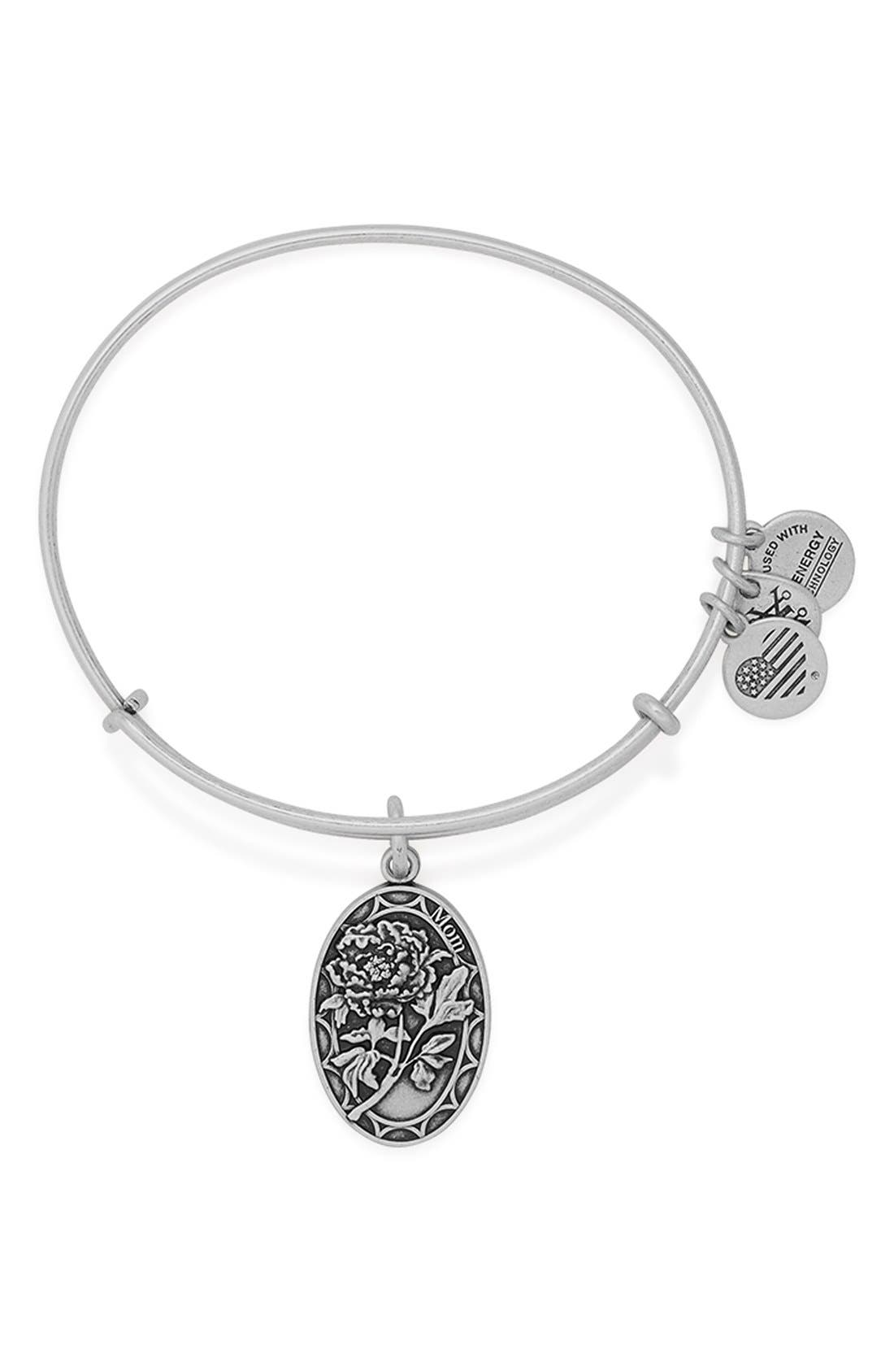 Main Image - Alex and Ani 'I Love You Mom' Expandable Wire Bangle