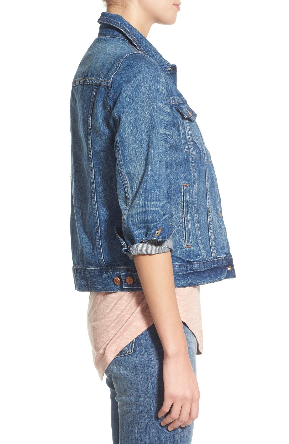 Alternate Image 3  - Madewell Jean Jacket (Pinter Wash)