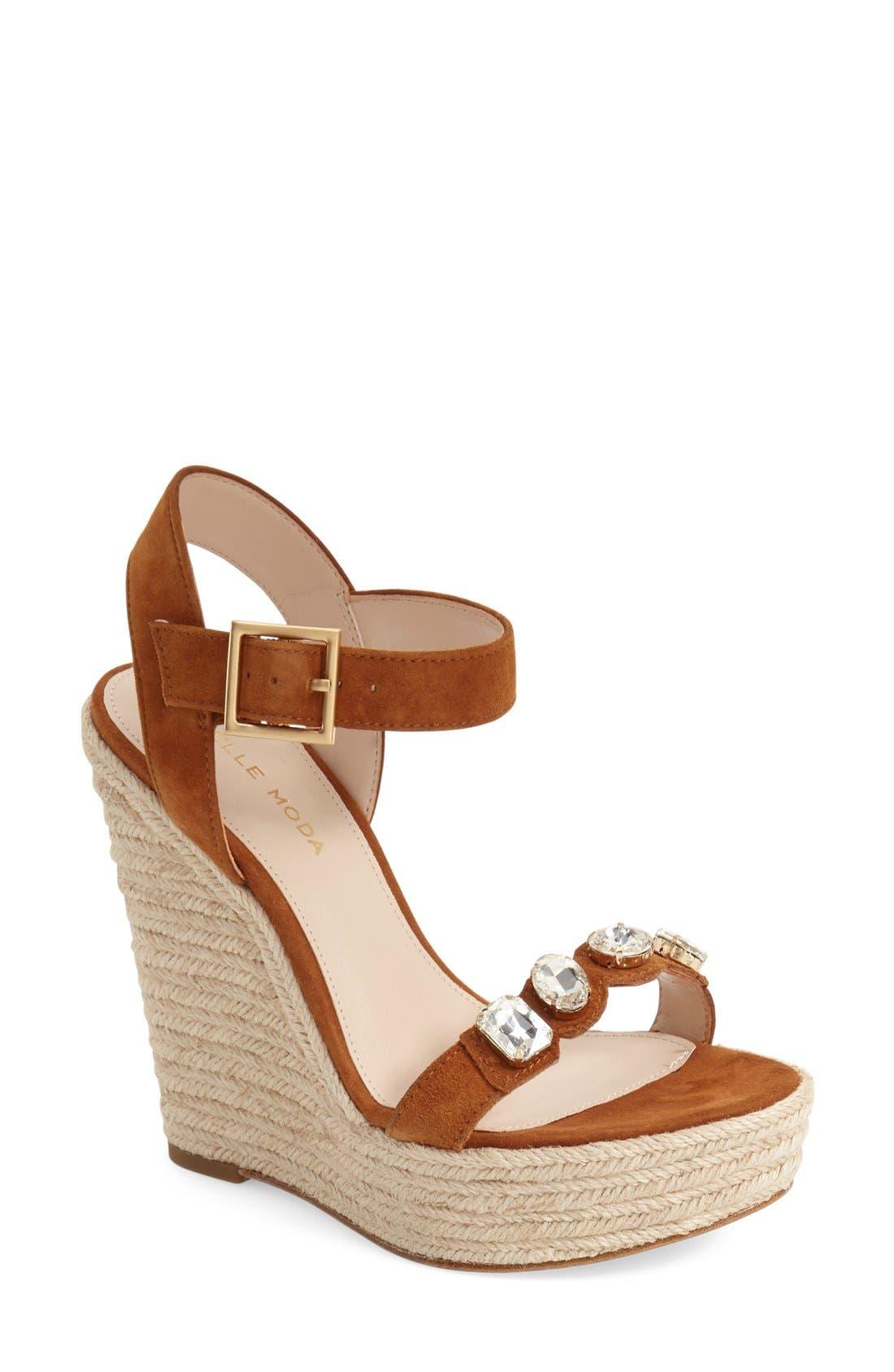Pelle Moda 'Olea' Wedge Sandal (Women)
