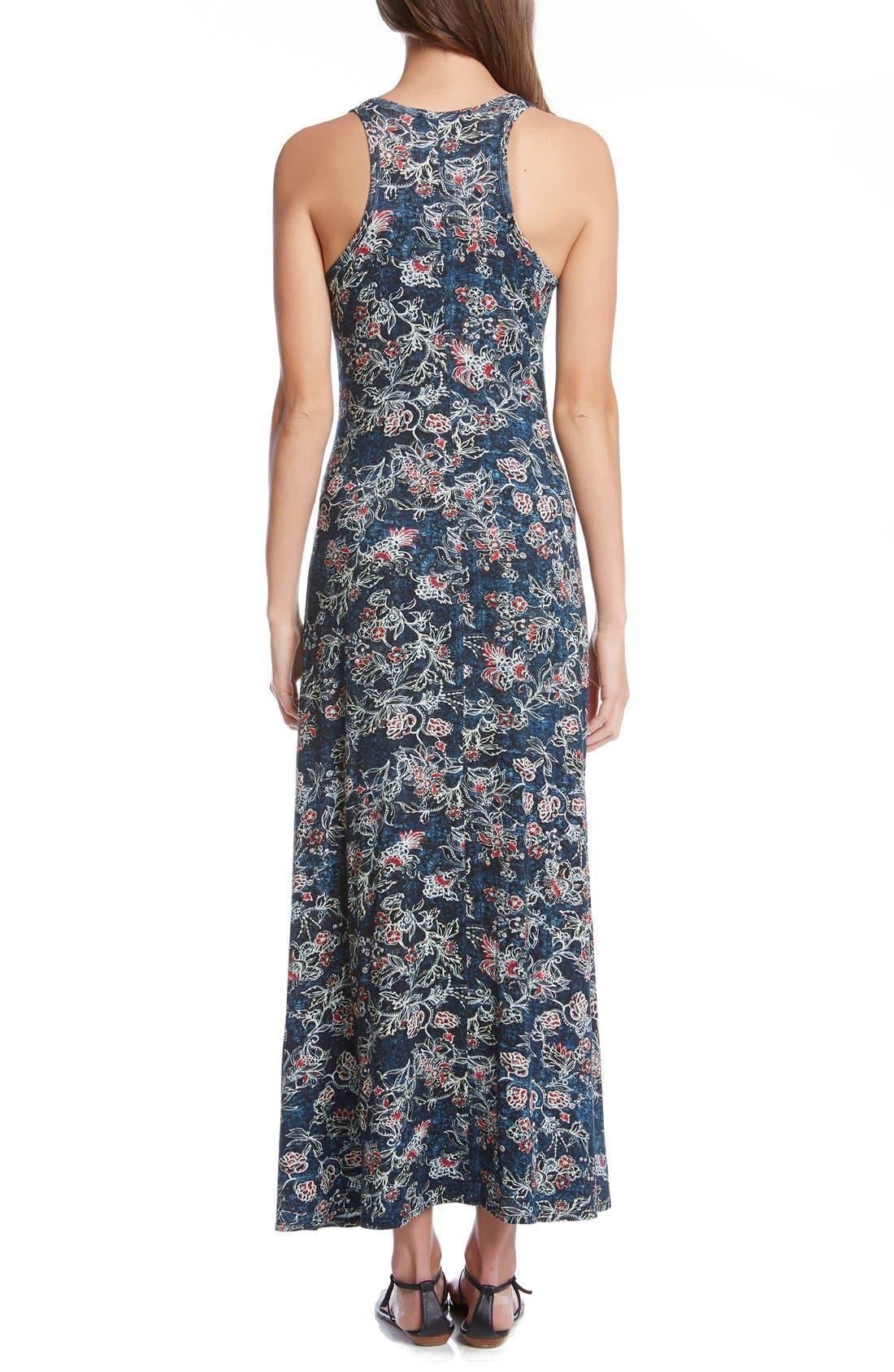 Alternate Image 2  - Karen Kane 'Tasha' Batik Floral Print Jersey Maxi Dress