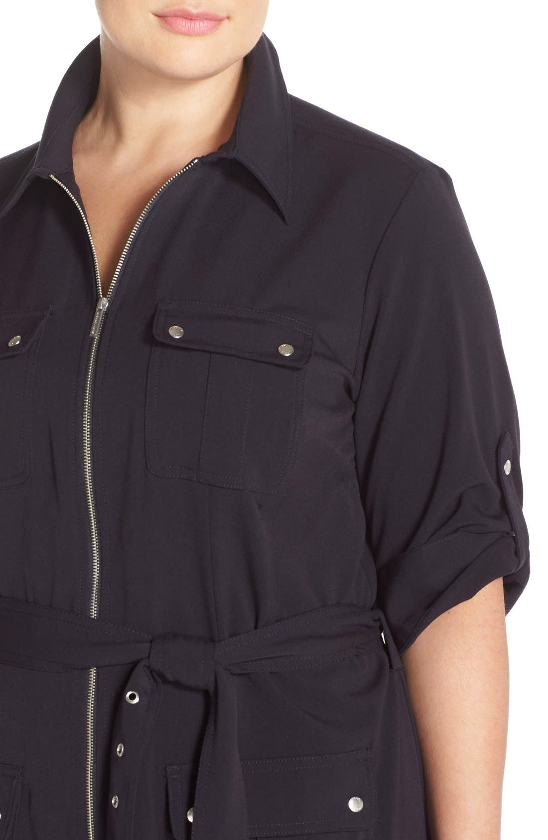 Alternate Image 5  - MICHAEL Michael Kors Belted Utility Shirtdress (Plus Size)