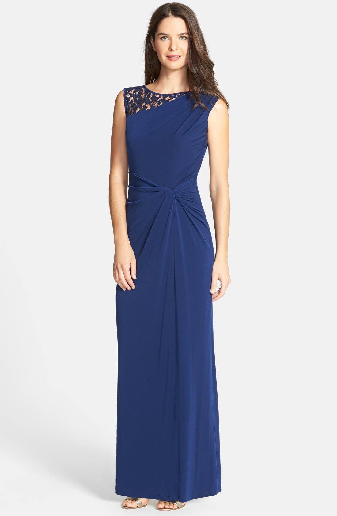 Alternate Image 1 Selected - Ellen Tracy Column Gown