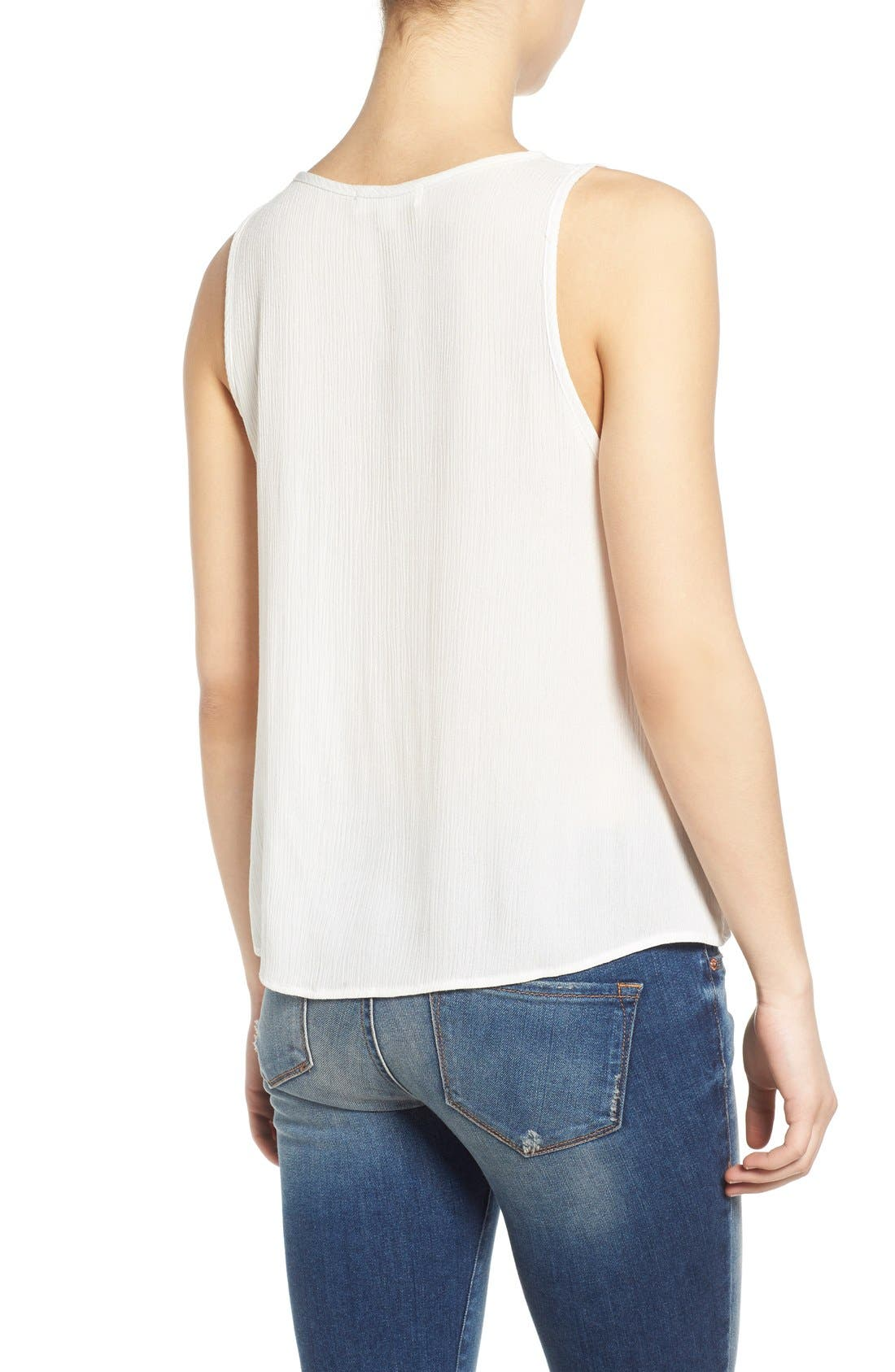 Alternate Image 2  - Painted Threads Lace-Up Tank