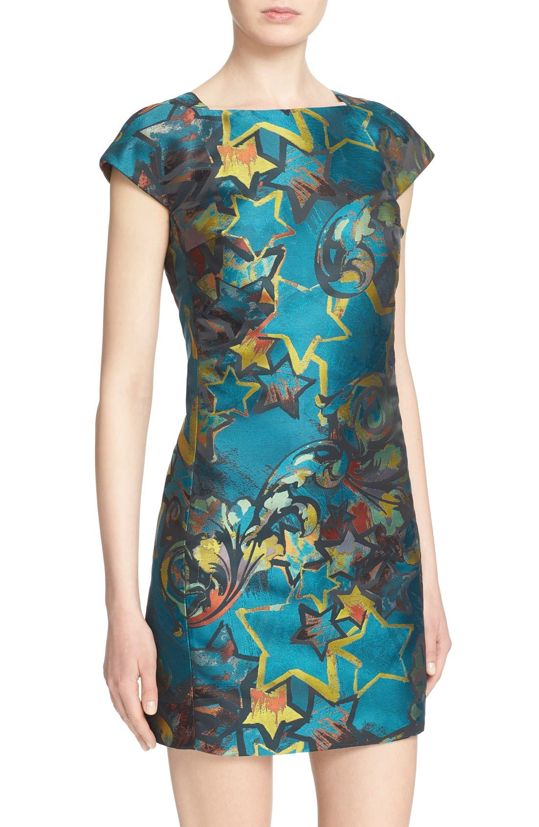 Alternate Image 6  - Versace Collection Jacquard Dress