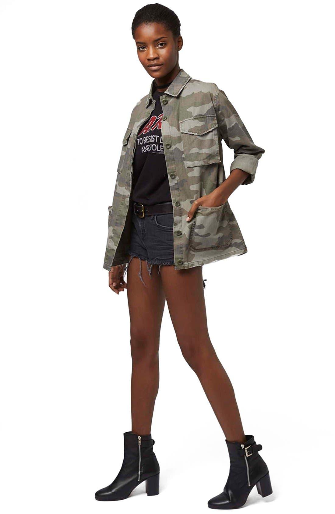Alternate Image 3  - Topshop 'Sandy' Camo Print Shirt Jacket (Regular & Petite)