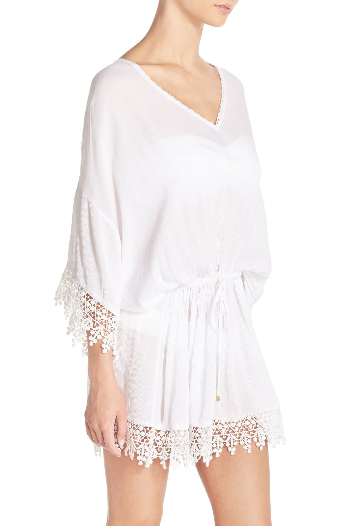Alternate Image 3  - Tory Burch 'Treville' Crochet Trim Caftan Tunic