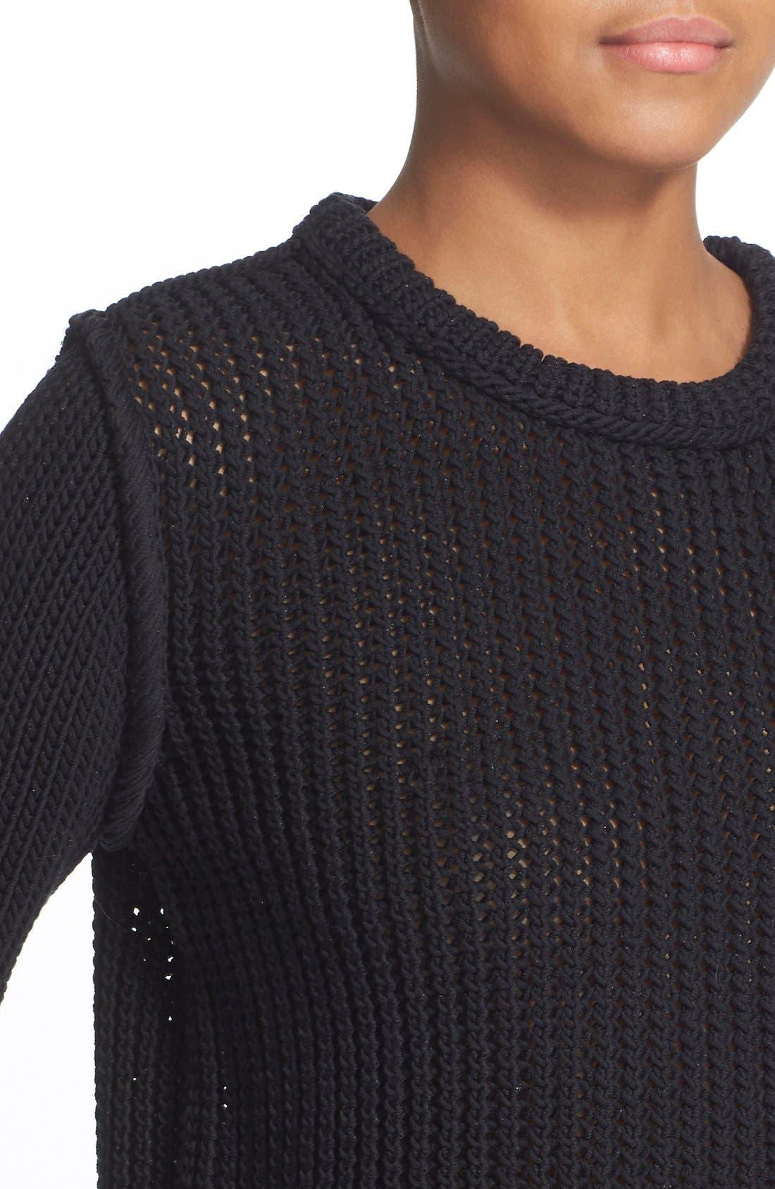 Alternate Image 4  - 3.1 Phillip Lim Open Stitch Crop Sweater