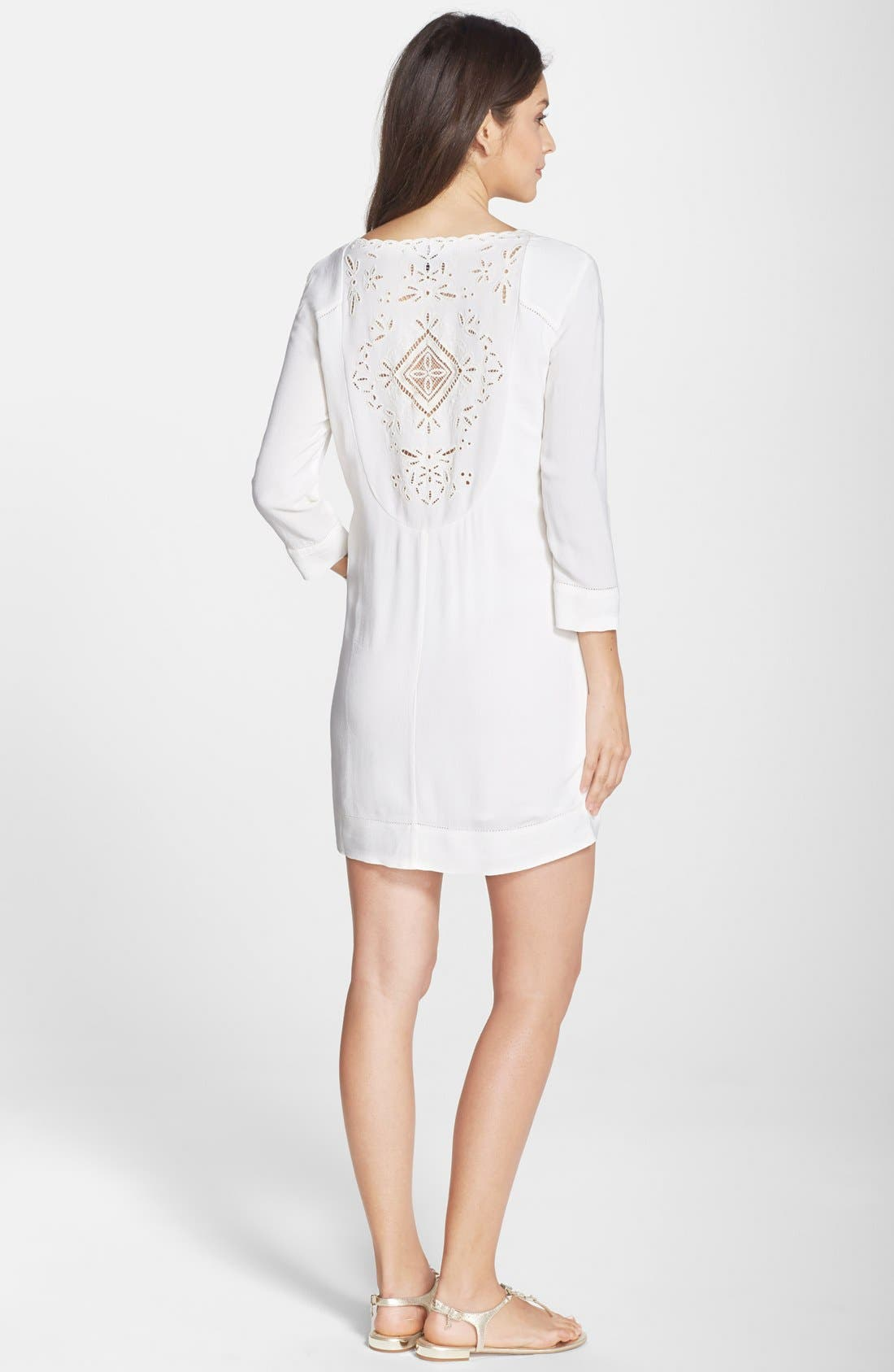 Alternate Image 2  - French Connection 'Camber Sands' Eyelet Shift Dress