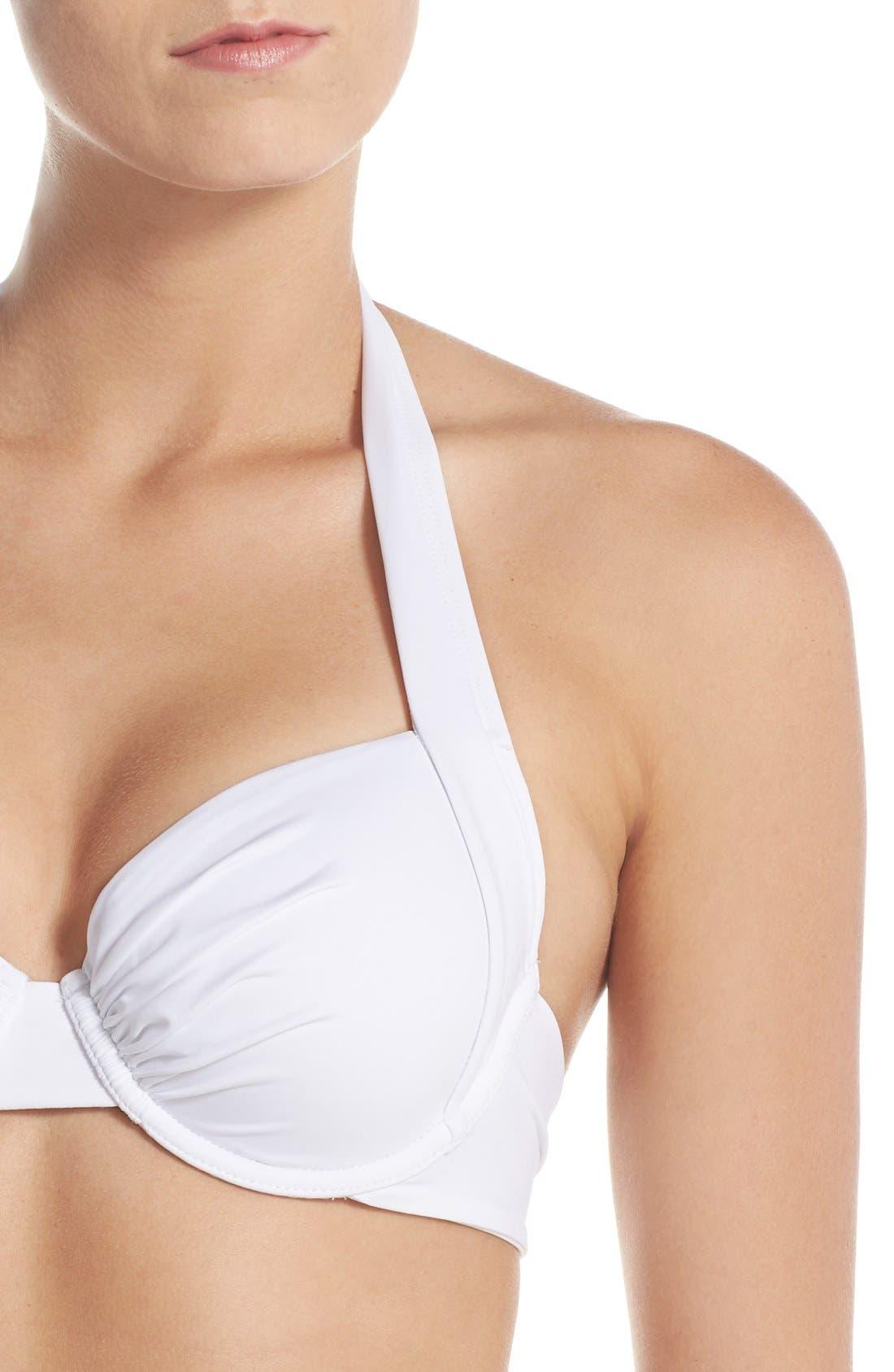 Alternate Image 6  - Tommy Bahama 'Pearl' Underwire Halter Bikini Top